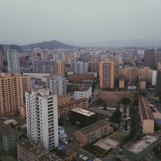The dusty pastels of Pyongyang.