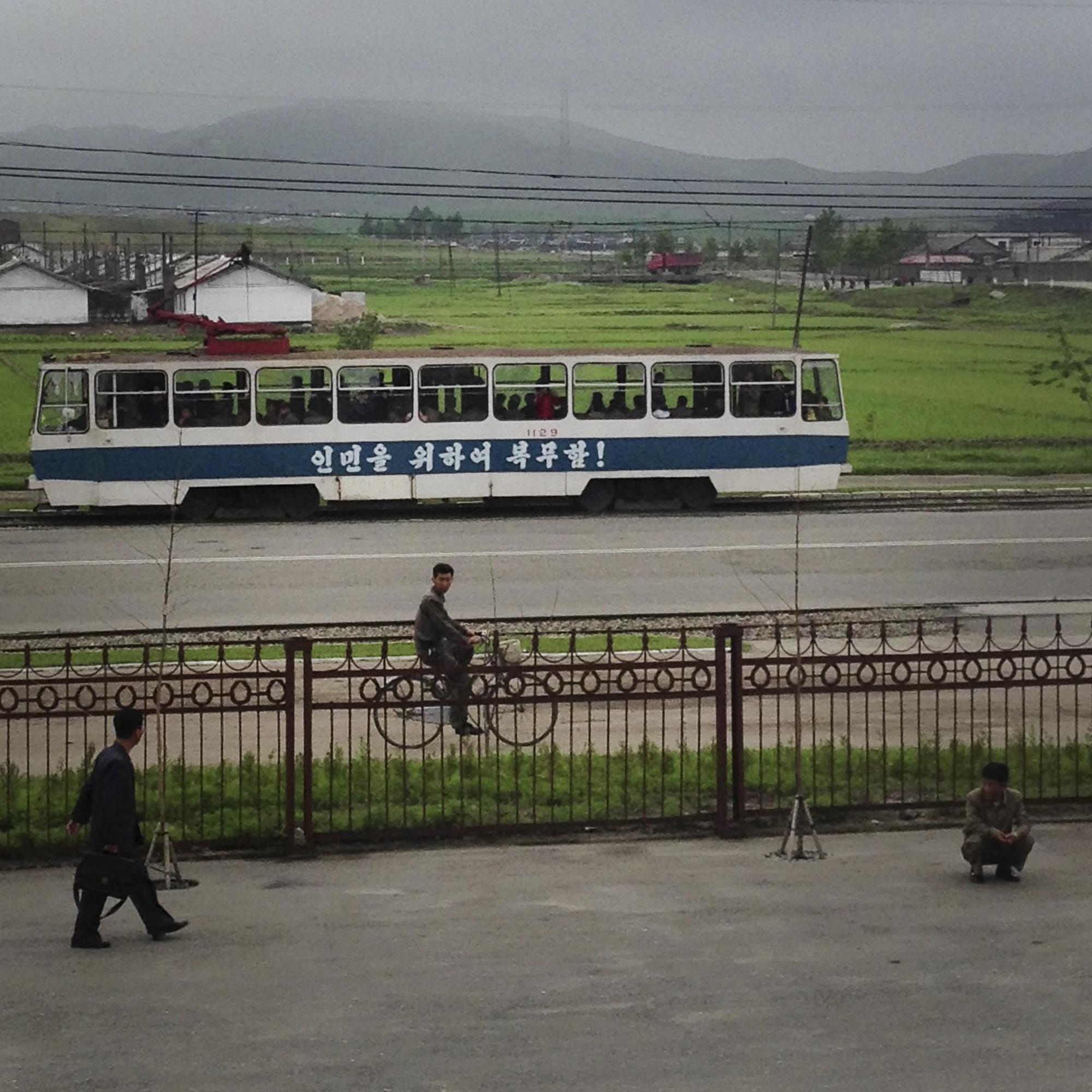 Public transportation in Chongjin North Korea.