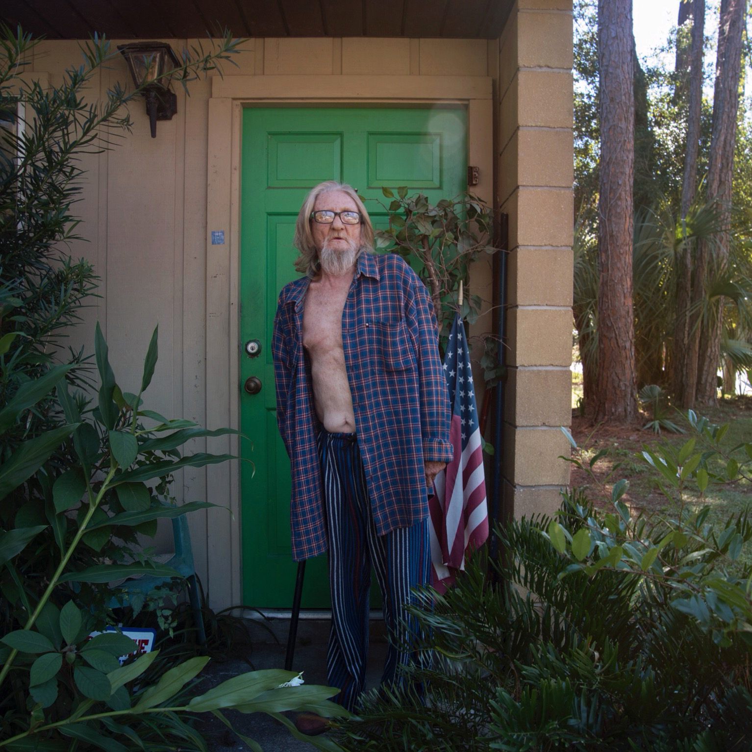 Larry Presher is a 69-year-old veteran of the Vietnam War. He has cancer of the bladder, an abdominal aortic aneurysm and a broken arm that cannot be repaired. He lives in Gainsville, Florida, and says he and many other veterans he knows must sell their medications each month to drug addicts in order to pay their rent.