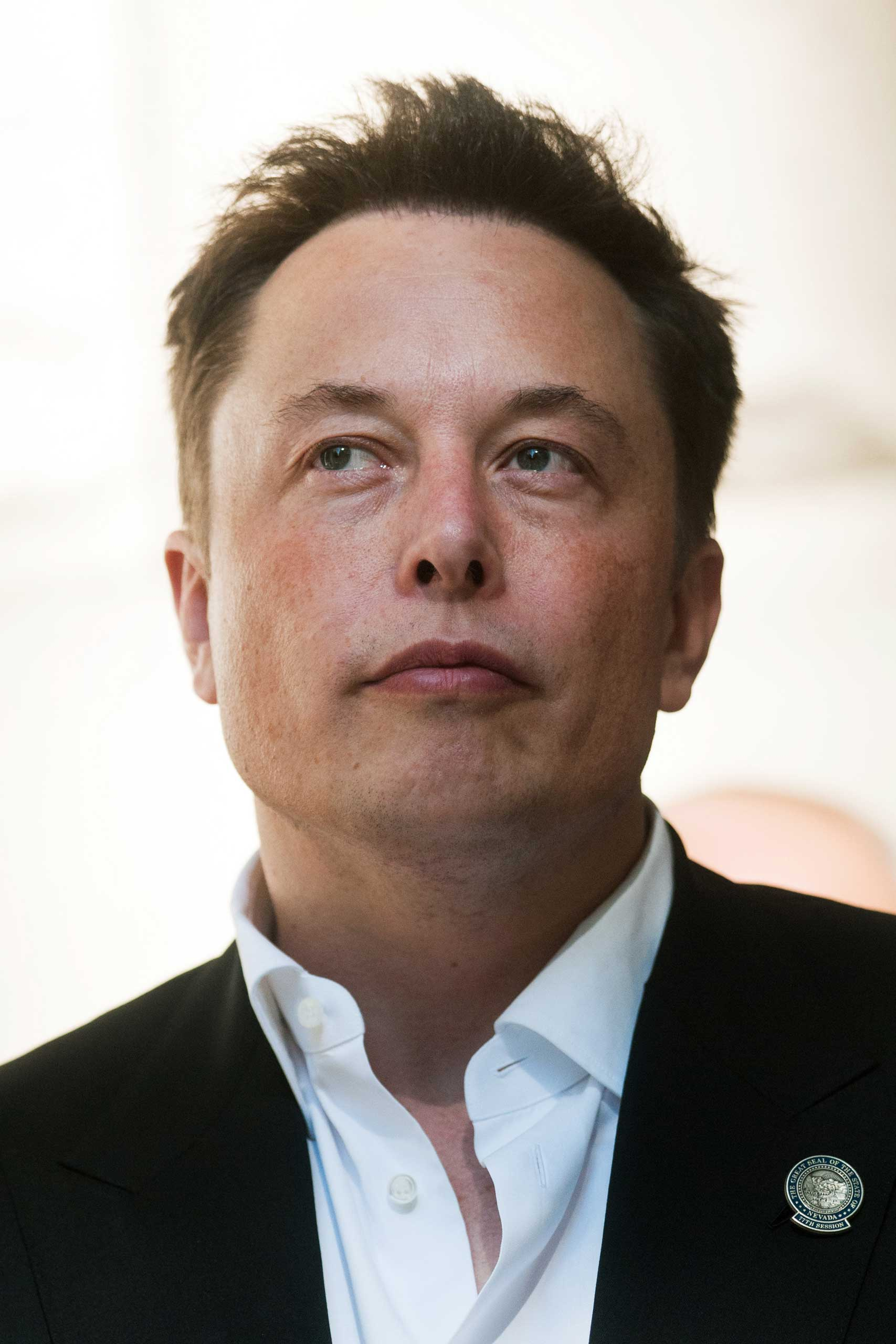 Elon Musk, co-founder and chief executive officer of Tesla Motors Inc., attends a news conference at the Nevada State Capitol building in Carson City, Nevada, U.S., on Thursday, Sept. 4, 2014.