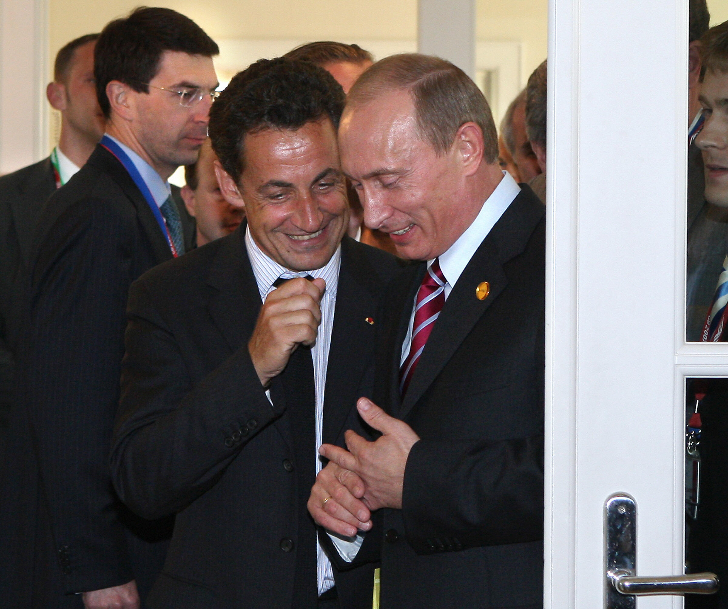 At one of many conferences during the 2007 G8 Summit, then-French President Nicolas Sarkozy  apparently arrived late, after a meeting with Vladimir Putin. Perplexingly, Putin is a noted teetotaler; had Sarkozy been drinking for two at lunch? He appeared befuddled, giggly and unsure how to proceed — asking the audience,  Do I answer your questions?