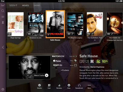 <strong>Fan TV.</strong> There's no shortage of streaming TV and movie services available, but launching separate apps for each one quickly gets cumbersome. The free Fan TV app acts like a slick launchpad to other popular streaming apps, letting you find and watch what you want with minimal fuss.
