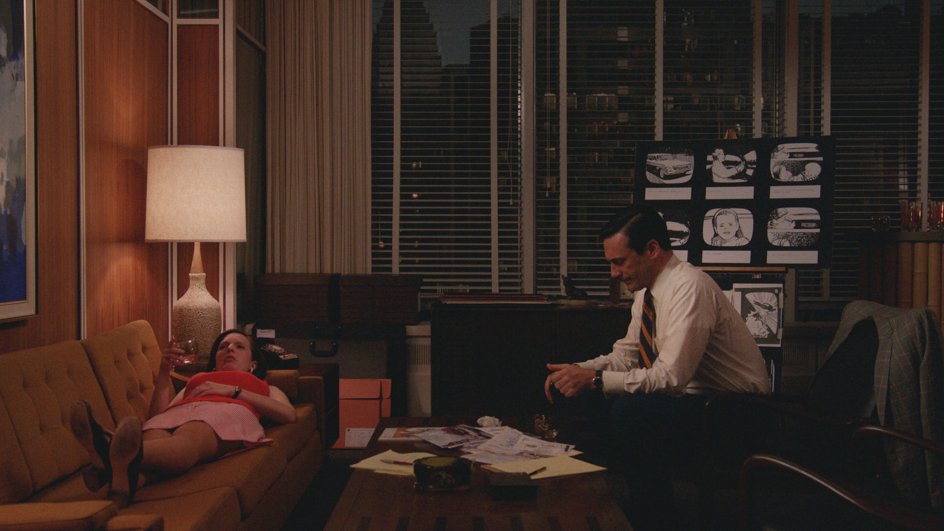 Elisabeth Moss and Jon Hamm in Mad Men's  The Strategy
