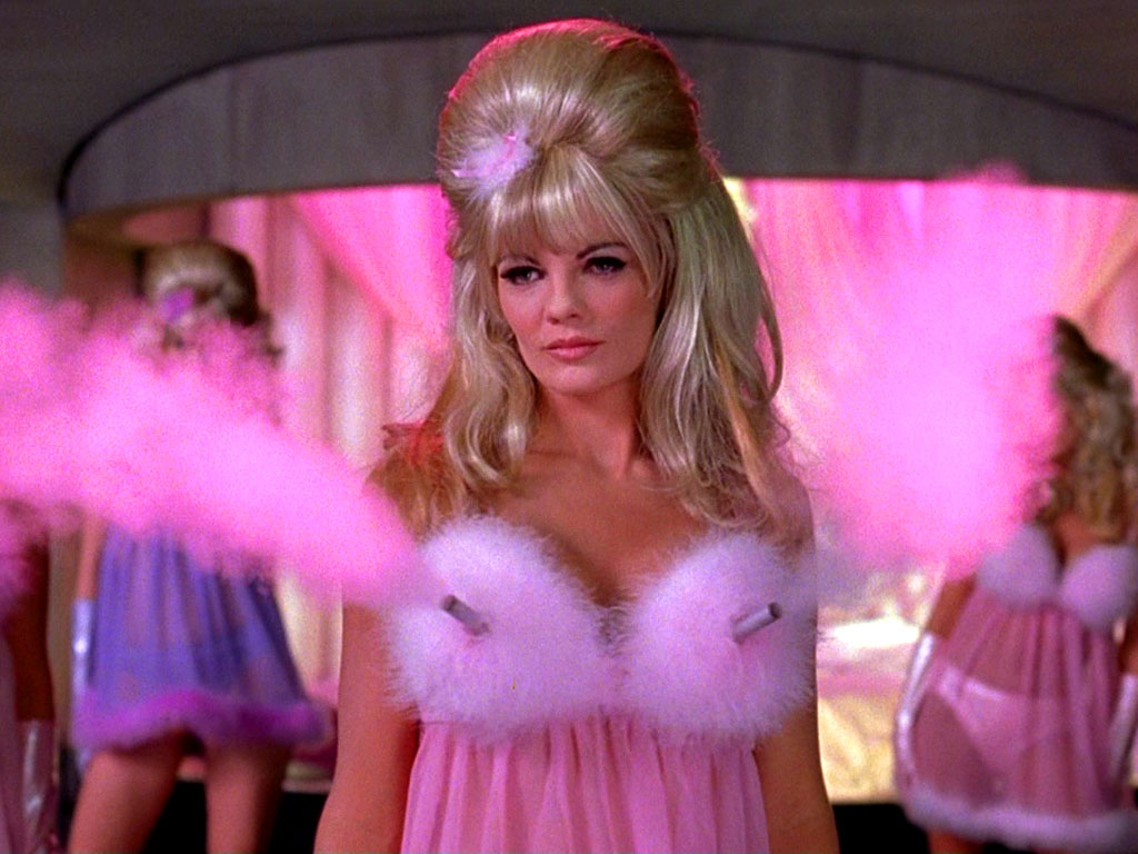 The Fembot Bra These robotic femme fatales were sent to destroy Mike Myers' eponymous character in the 1997 film Austin Powers: International Man of Mystery and used their lethal bras to spread pink poison gas.