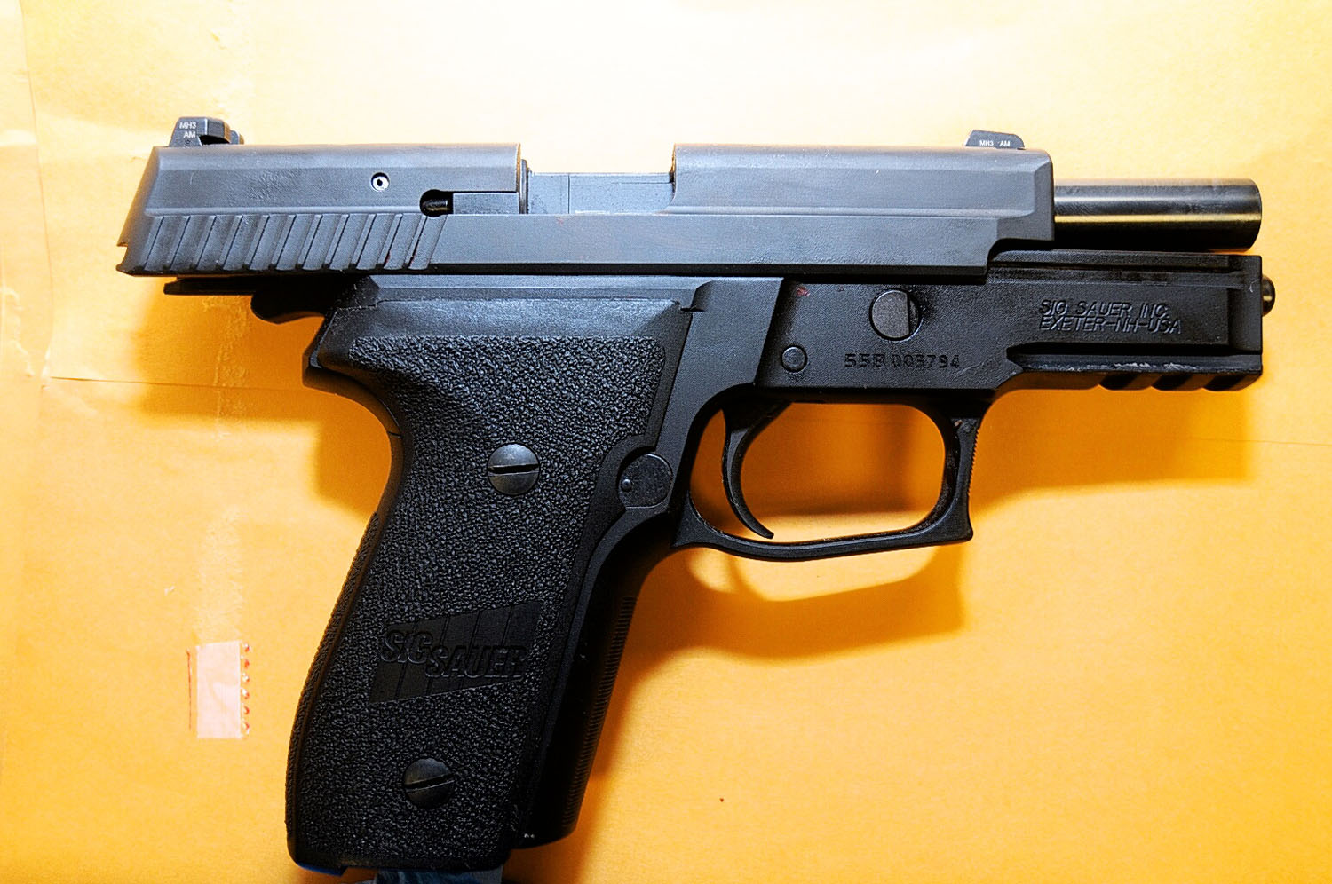 The gun Officer Darren Wilson used when he shot and killed Michael Brown