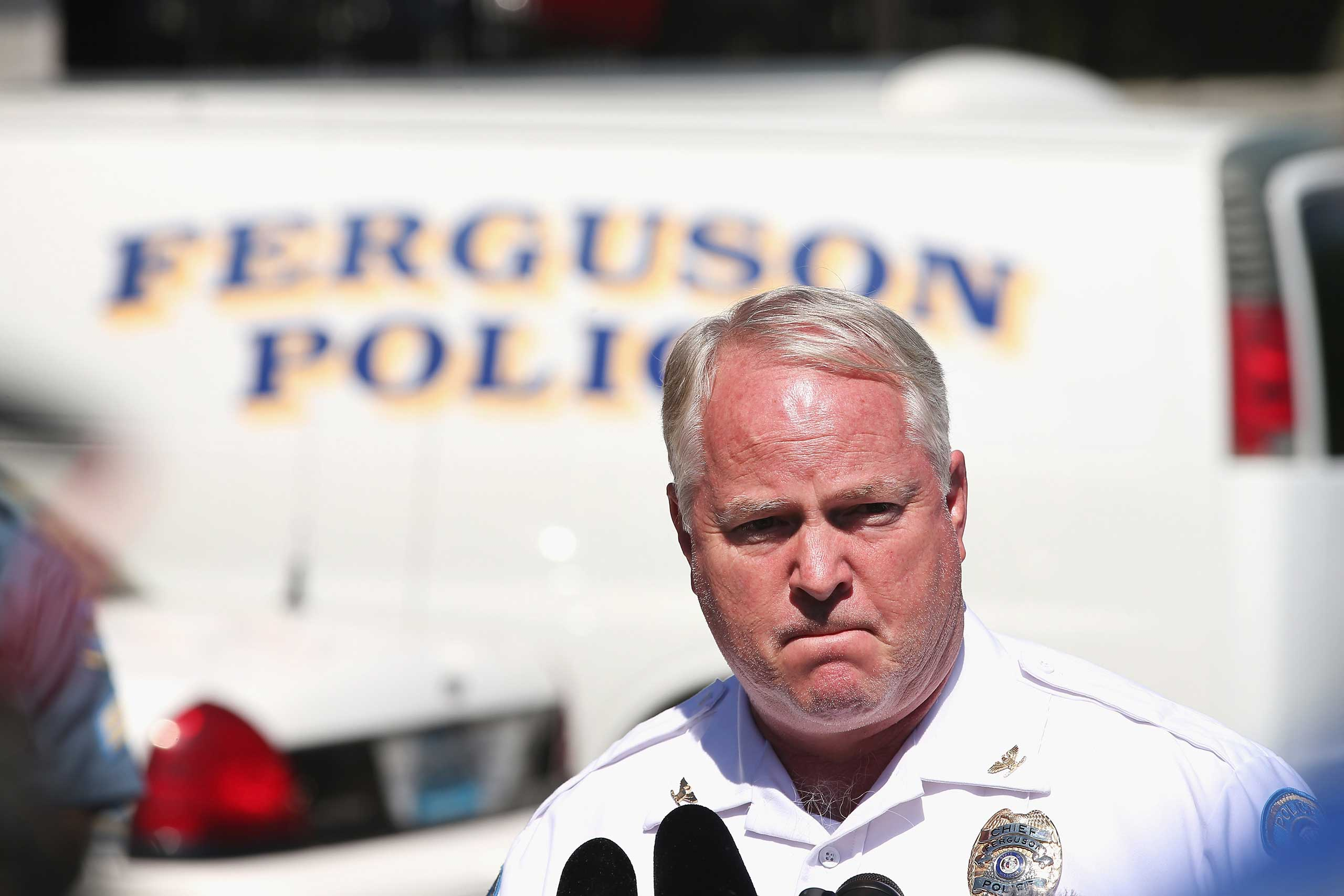 Ferguson Police Chief Tom Jackson stepped down March 11, 2015, after a federal report harshly criticized the police department, becoming the sixth Ferguson official to resign since the investigation.