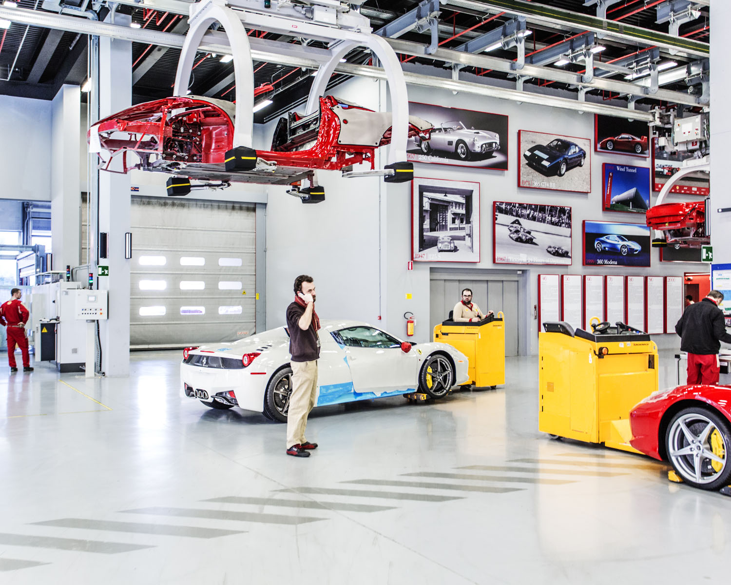 From the series: Inside the Famed Factory Where Ferraris Are Born.                               The Ferrari assembly in Maranello, Italy.