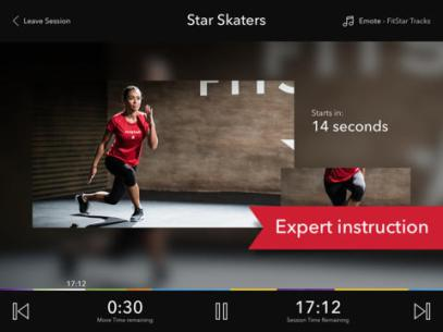 """<strong>FitStar Personal Trainer.</strong> FitStar looks to play the role of your virtual personal trainer by way of its """"dynamic progression algorithm,"""" which adjusts the difficulty of your workouts alongside your fitness level and goals. The app can be cast to your TV set if you've got an Apple TV box, and the workouts are hosted by NFL great Tony Gonzalez."""