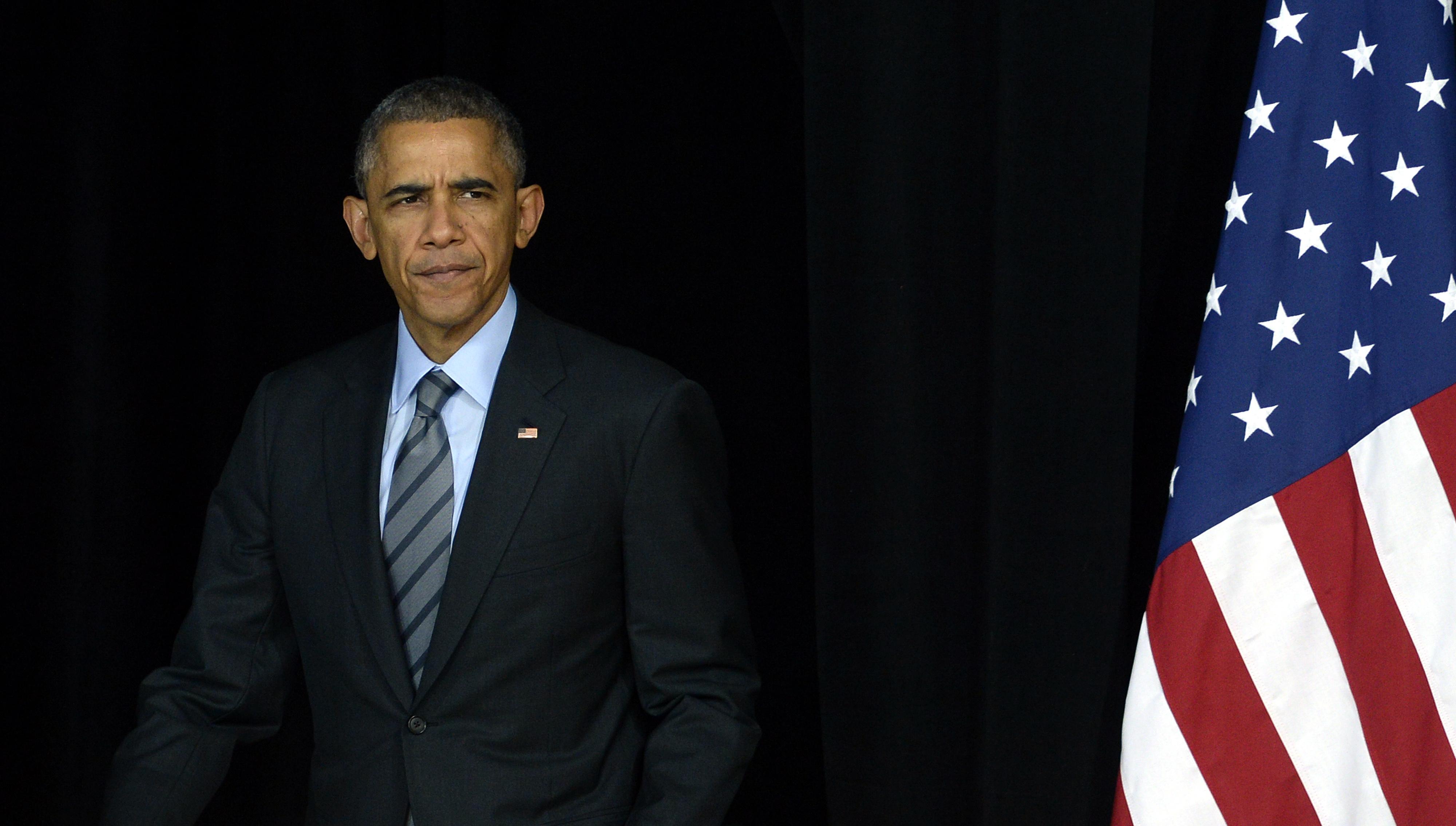 President Barack Obama at the Del Sol High School in Las Vegas, Nov. 21 2014.
