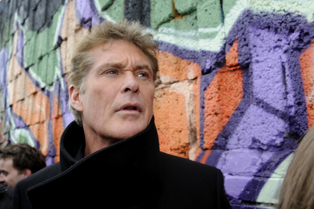 David Hasselhoff attends a 'Save the Wall' protest at East Side Gallery on Mar. 17, 2013, in Berlin