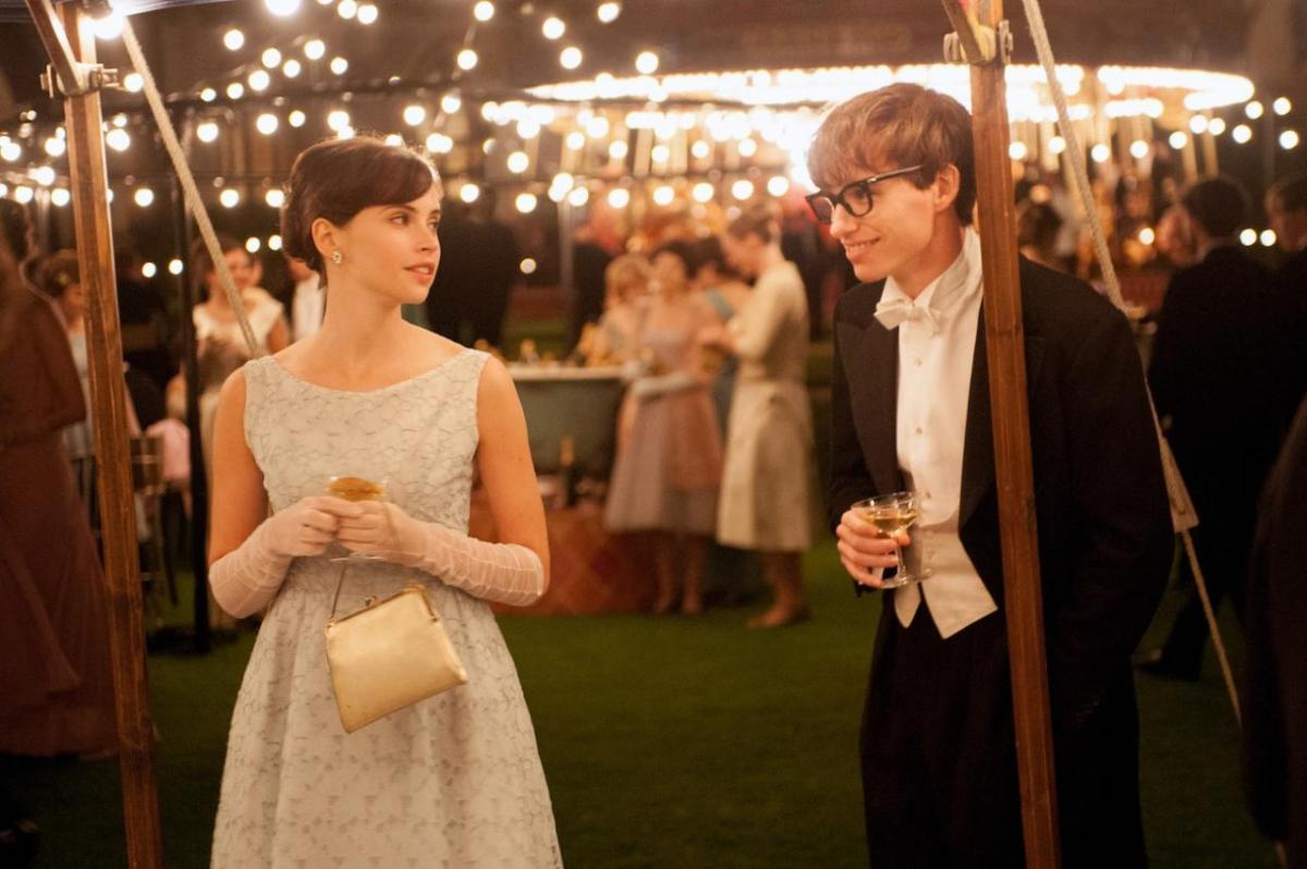 A theory of love: Eddie Redmayne, as a young Hawking, meets the future Mrs. Hawking