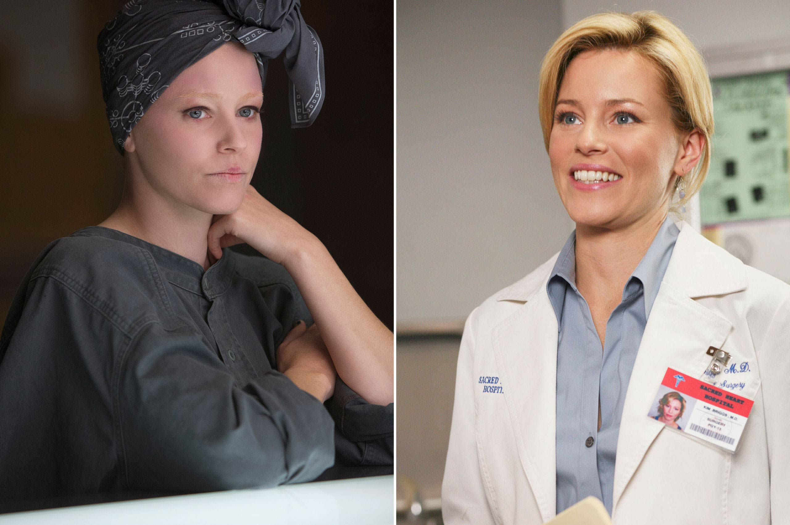 Before she was dressing up victors in the <i>Hunger Games</i> movies as Effie Trinket, Elizabeth Banks was dressed up in scrubs as Dr. Kim Briggs in the long-running television show <i>Scrubs</i>.