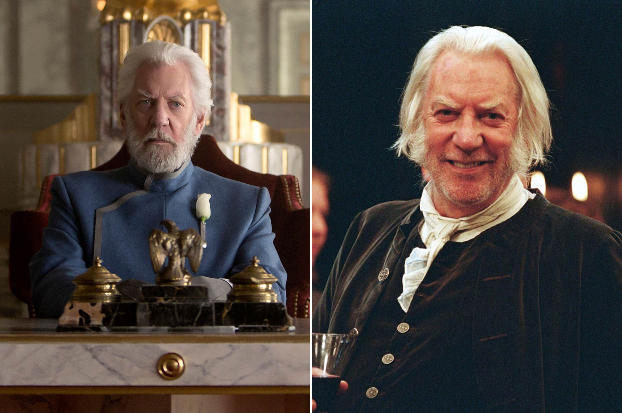 Donald Sutherland may rule Panem with an iron fist, but he showed a much gentler side as Mr. Bennet in the 2005 romance <i>Pride &amp; Prejudice</i>.