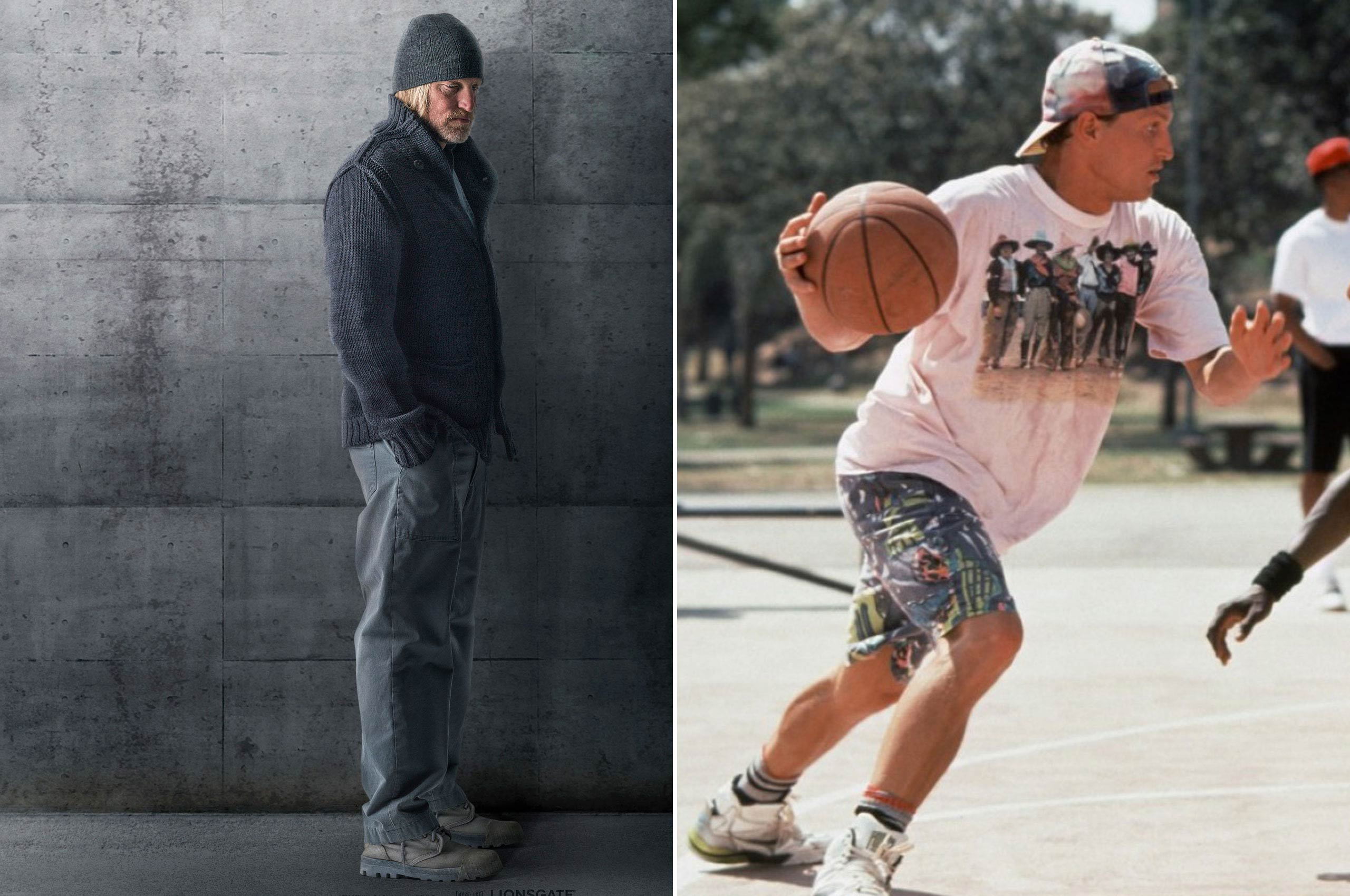 Woody Harrelson spends his time in the <i>Hunger Games</i> mentoring Katniss as former District 12 victor Haymitch Abernathy, but back in the day he spent his time schooling others in basketball as Billy Hoyle in the 1992 comedy <i>White Men Can't Jump</i>.