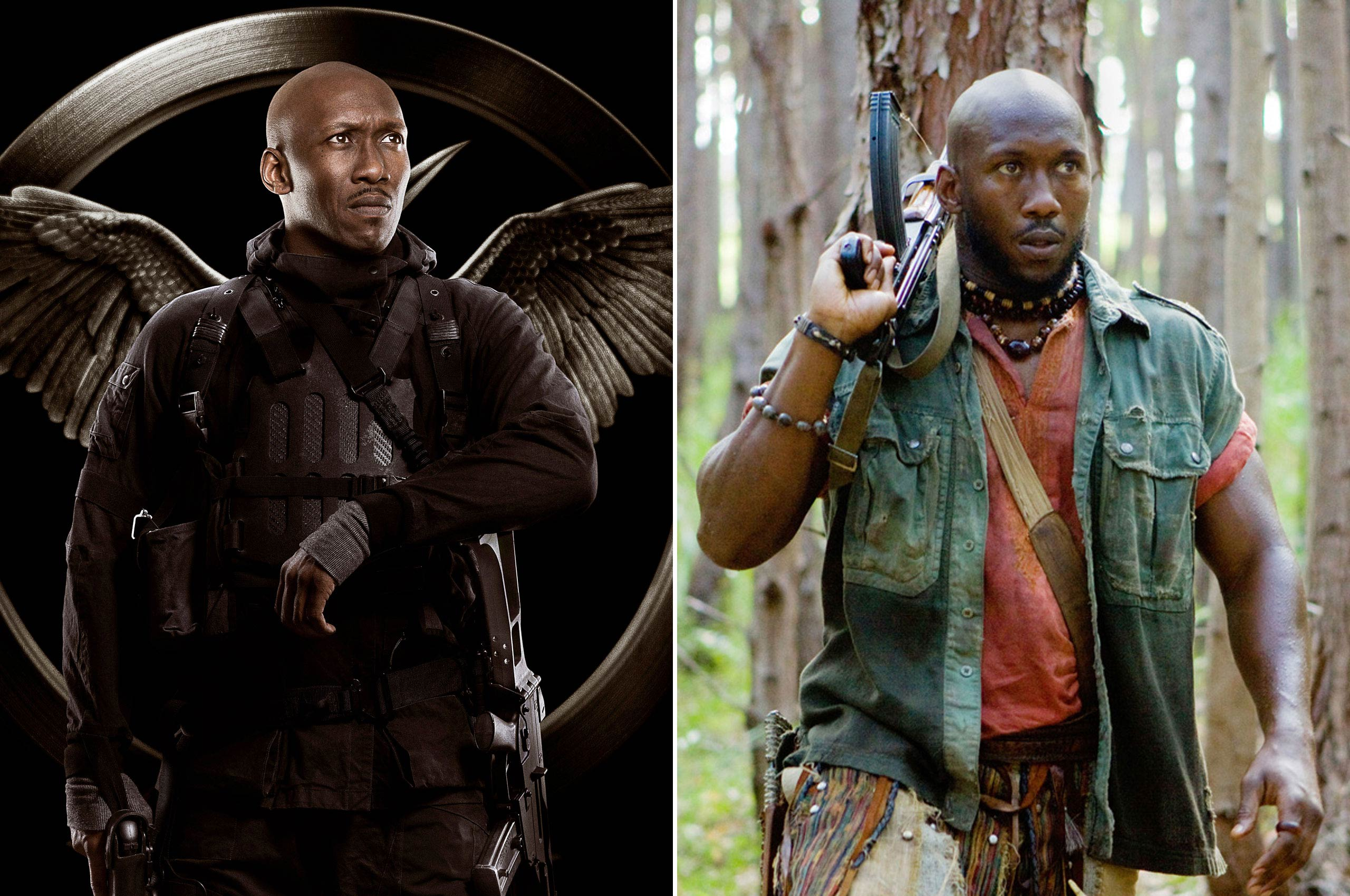 Although Mahershala Ali has to fight the Capitol's considerable forces as Commander Boggs in <i>Mockingjay</i>, human soldiers should prove much easier after having to face off against aliens in the 2010 sci-fi flick <i>Predators</i>.