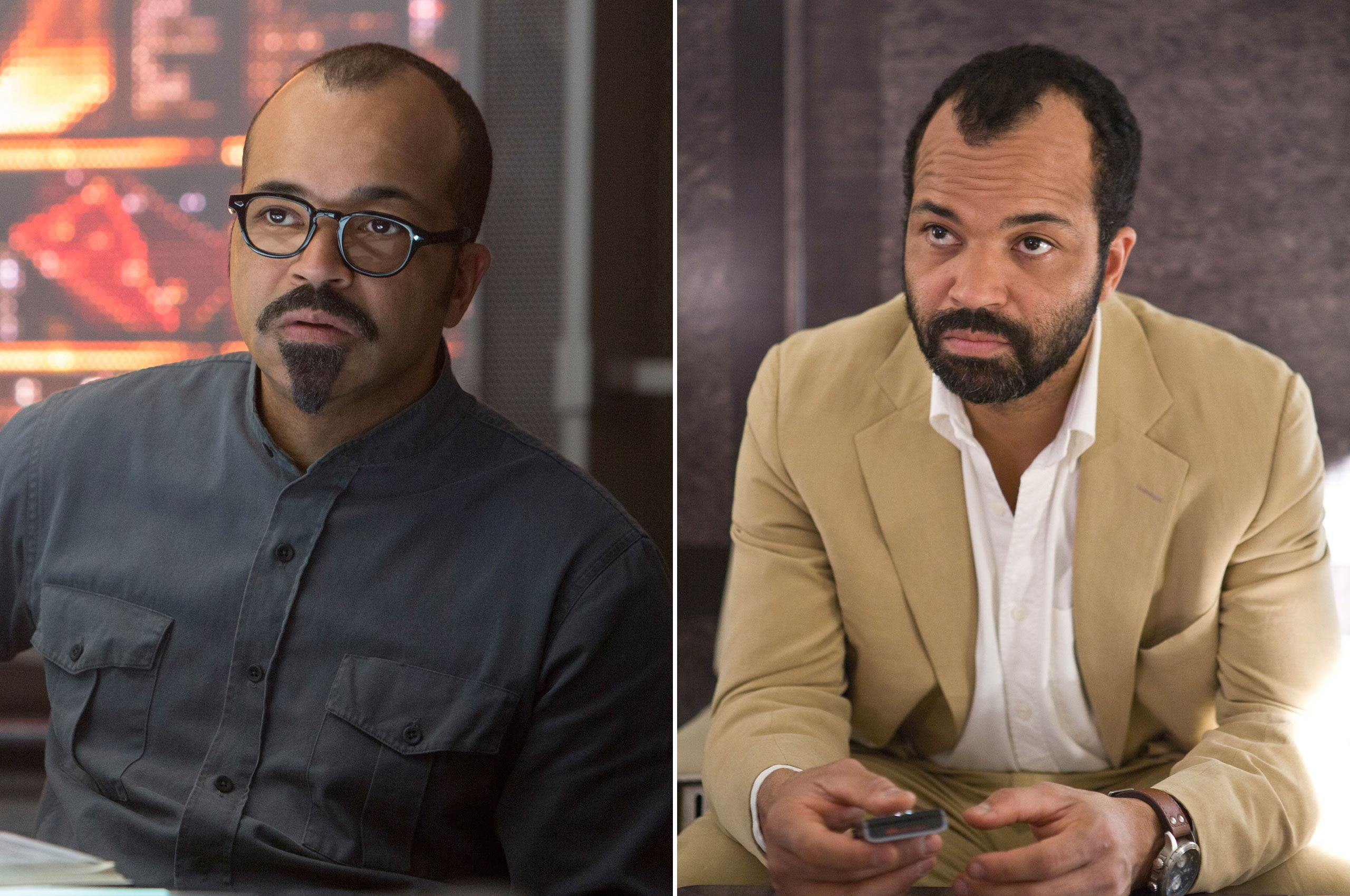 Jeffrey Wright portrays the genius inventor Beetee in the <i>Hunger Games</i> and also played CIA operative Felix Leiter in the James Bond movies <i>Casino Royale</i> and <i>Quantum of Solace</i>.