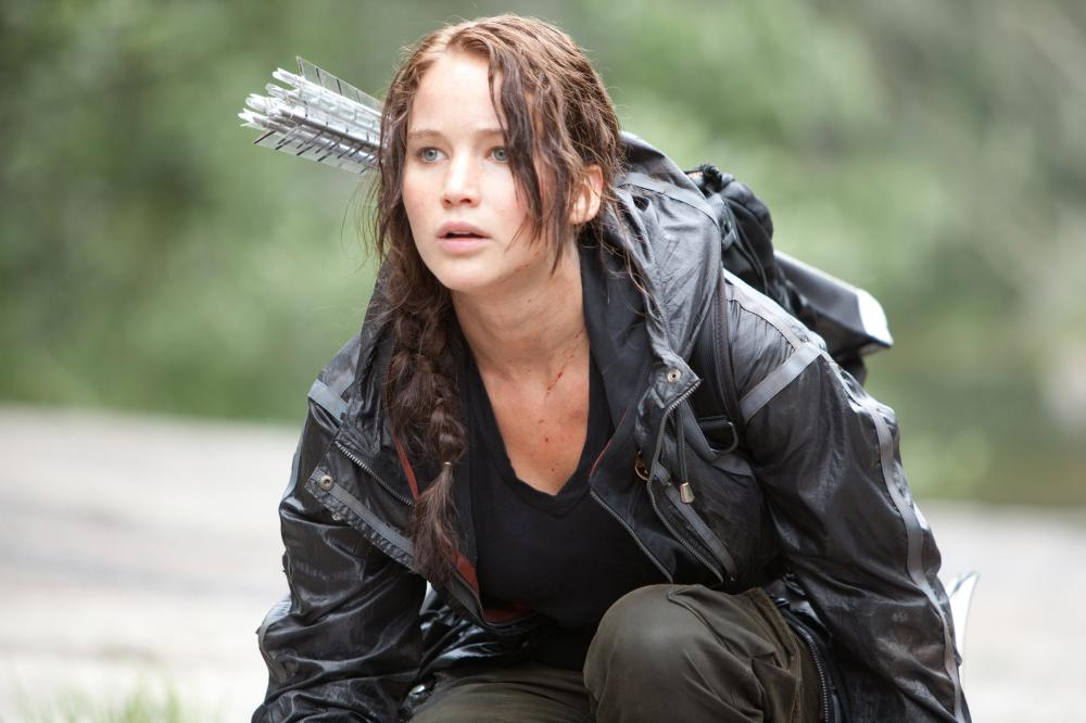 Jennifer Lawrence in 'The Hunger Games,' 2012.