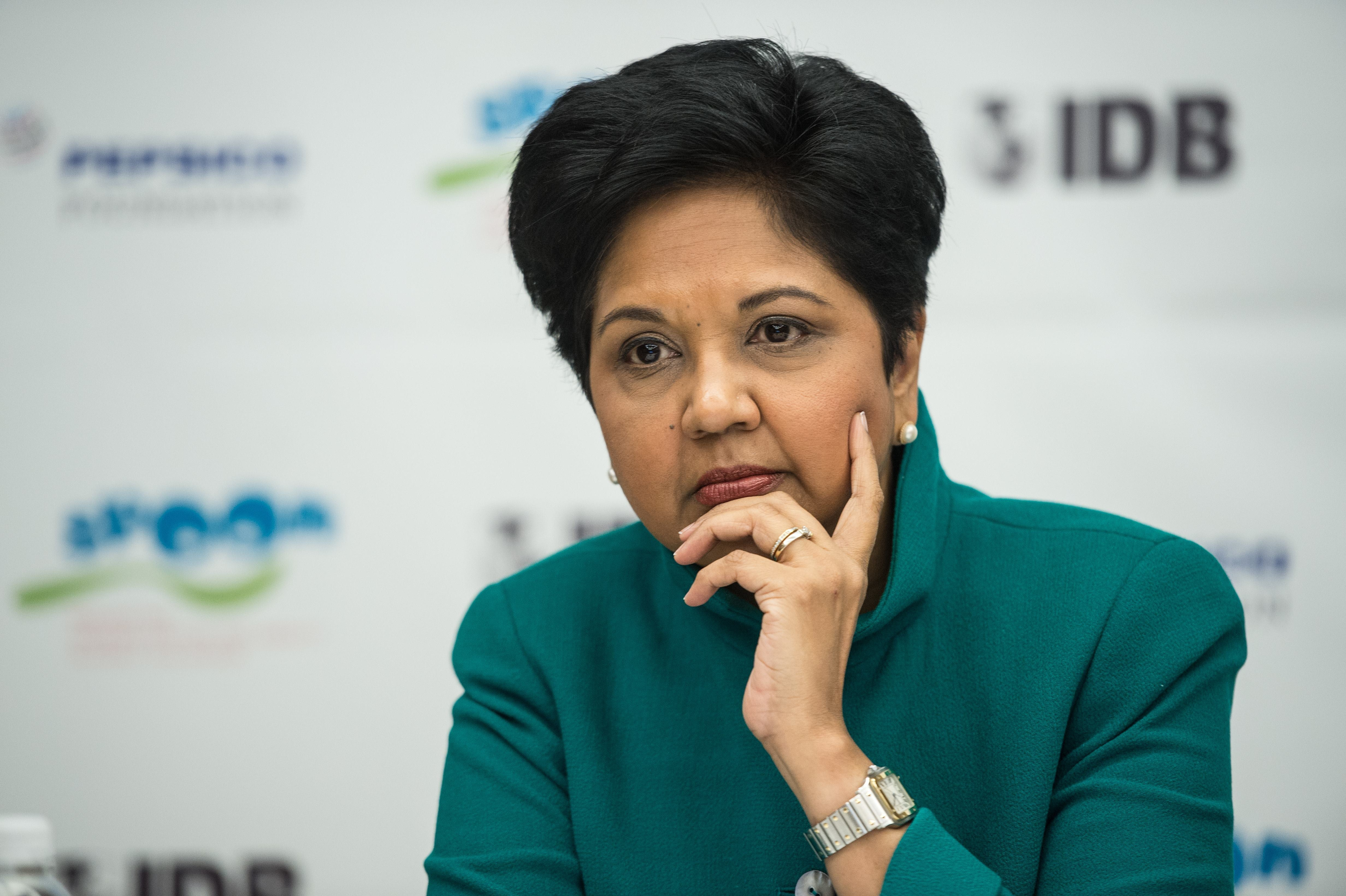 Pepsico CEO Indra Nooyi during the announcement of a partnership in Washington, D.C. on Oct. 15, 2014.