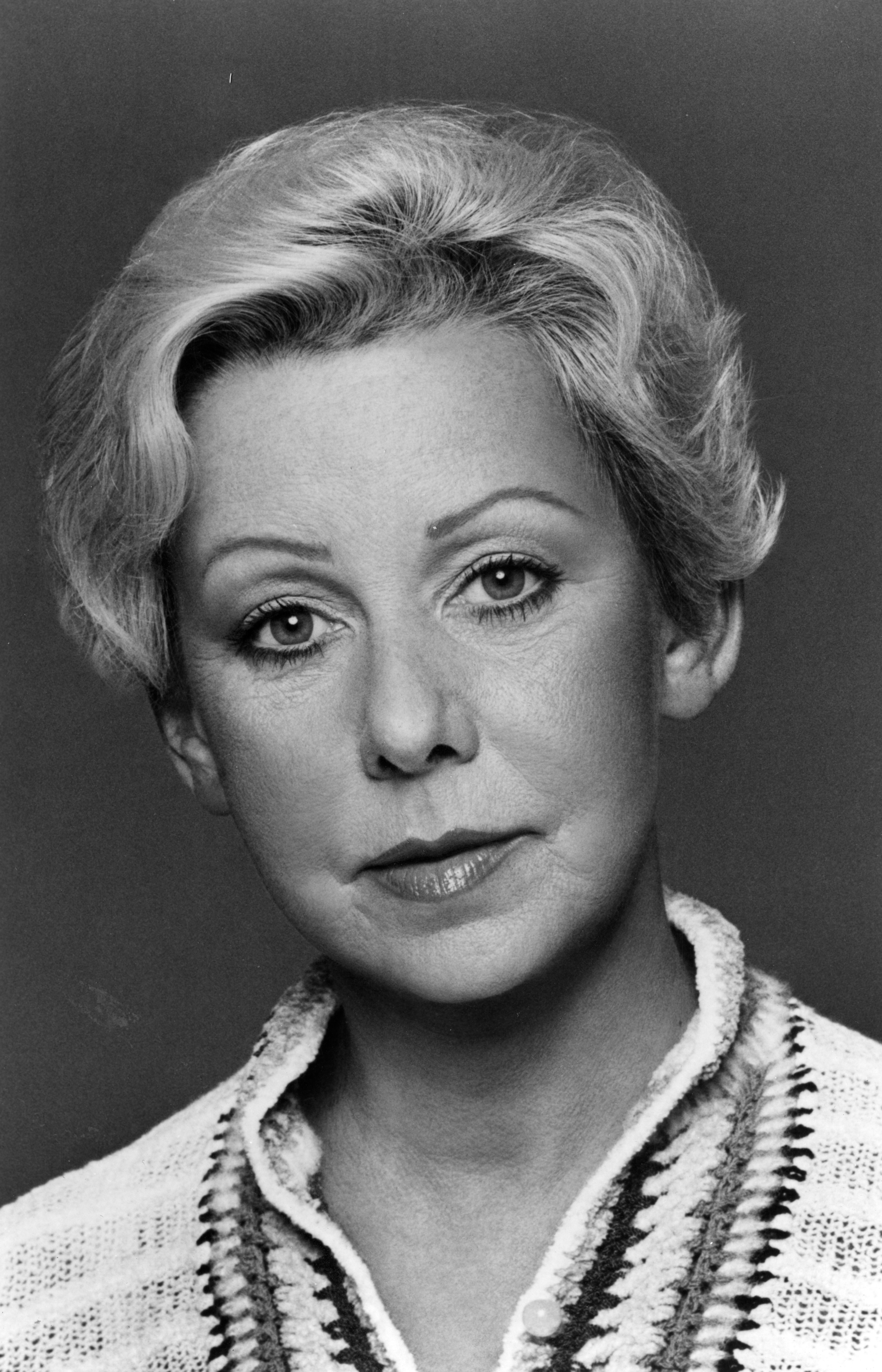 Portrait of American politician and mayor of Chicago Jane Byrne, early to mid 1980s.