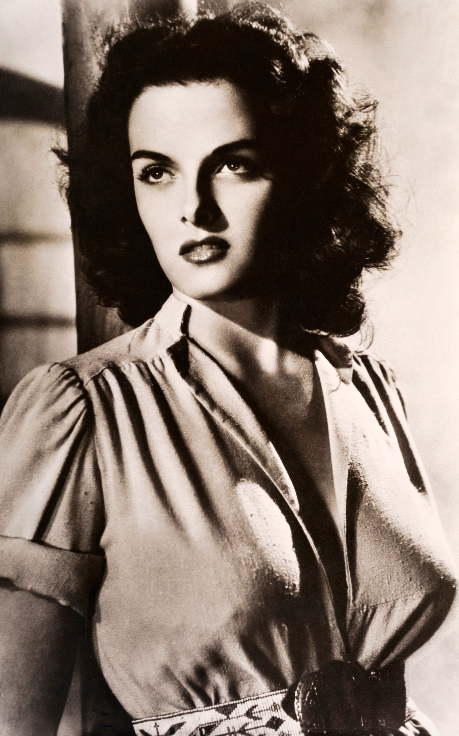 The Bullet Bra                                Popularized by actresses such as Jane Russell (pictured here), Lana Turner and Marilyn Monroe, these conical bras came into style in the 1940s and 50s and gave rise to the famed 'Sweater Girl'.