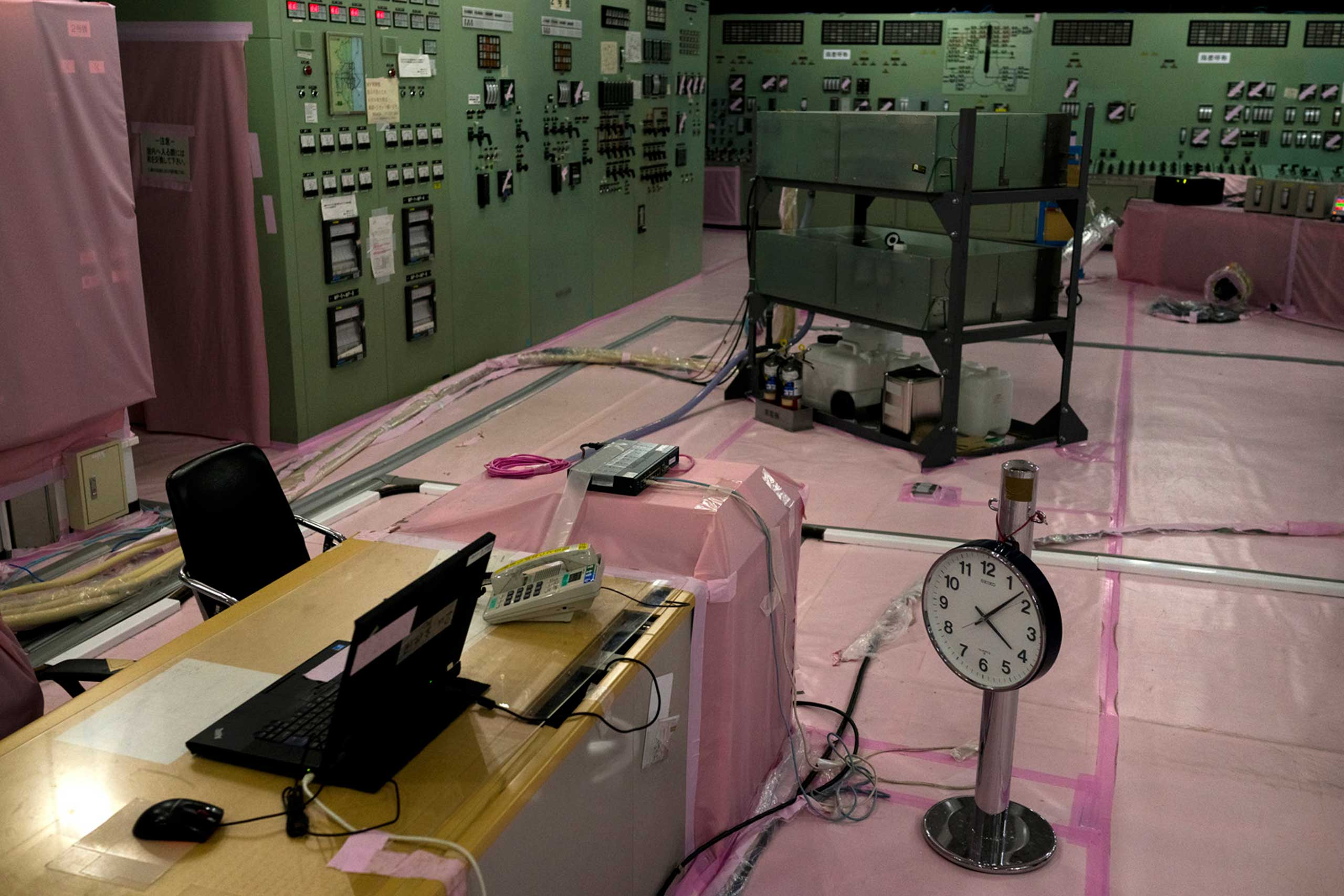 The abandoned control room for Reactors 1 and 2, both of which overheated and suffered meltdowns, Fukushima, Japan, June 3, 2014.