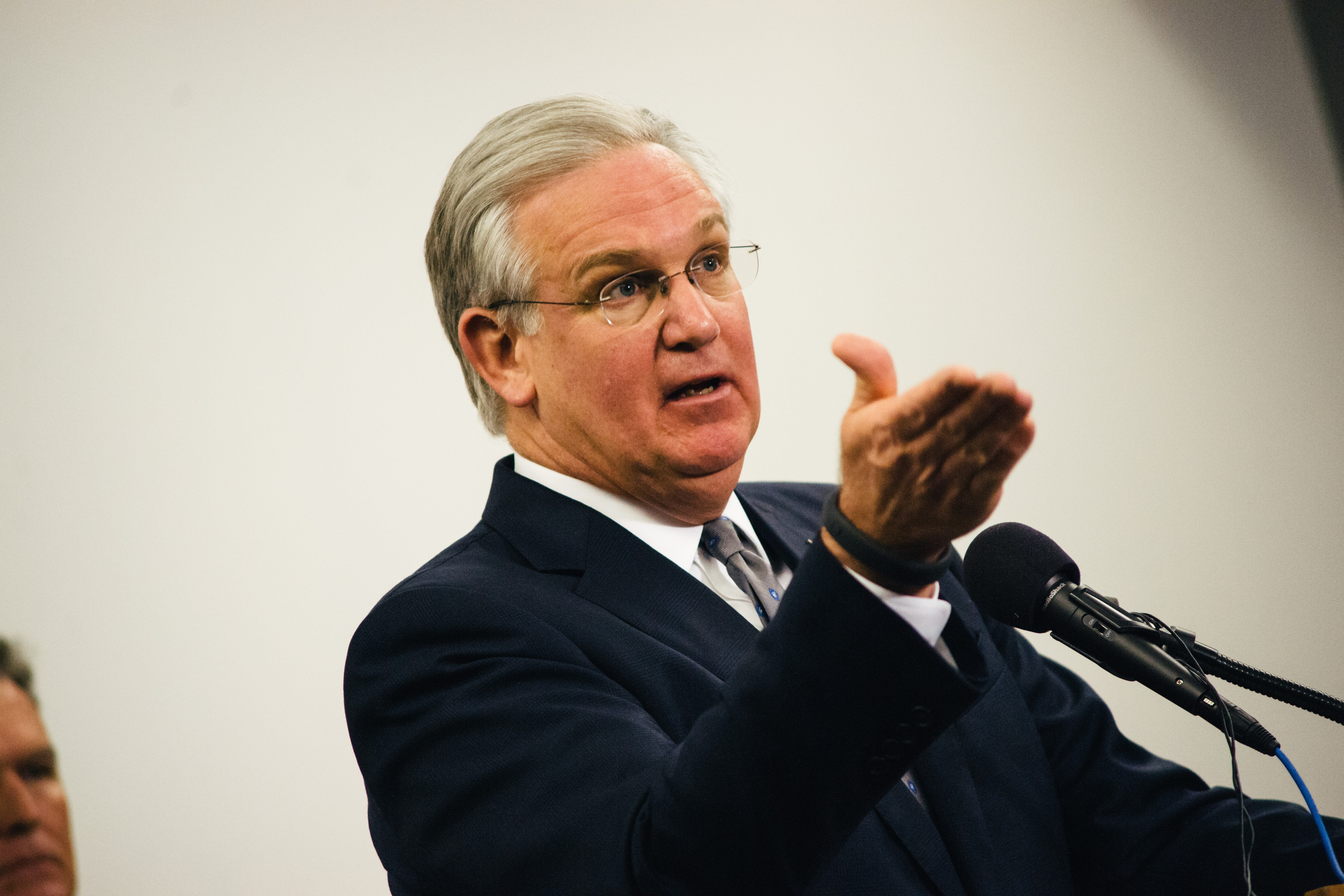At a Nov. 11 press conference, Missouri Governor Jay Nixon said the National Guard could again be deployed to deal with violence in Ferguson.