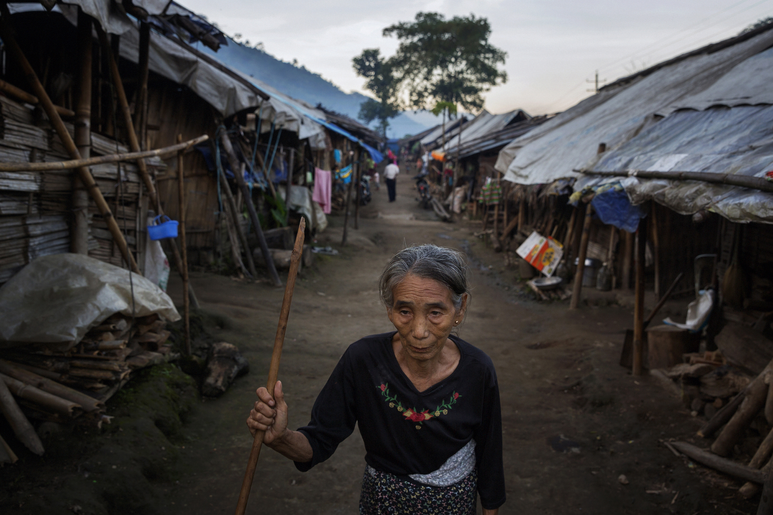 A woman at the Je Yang IDP camp in Kachin State, Nov. 9,  2014.