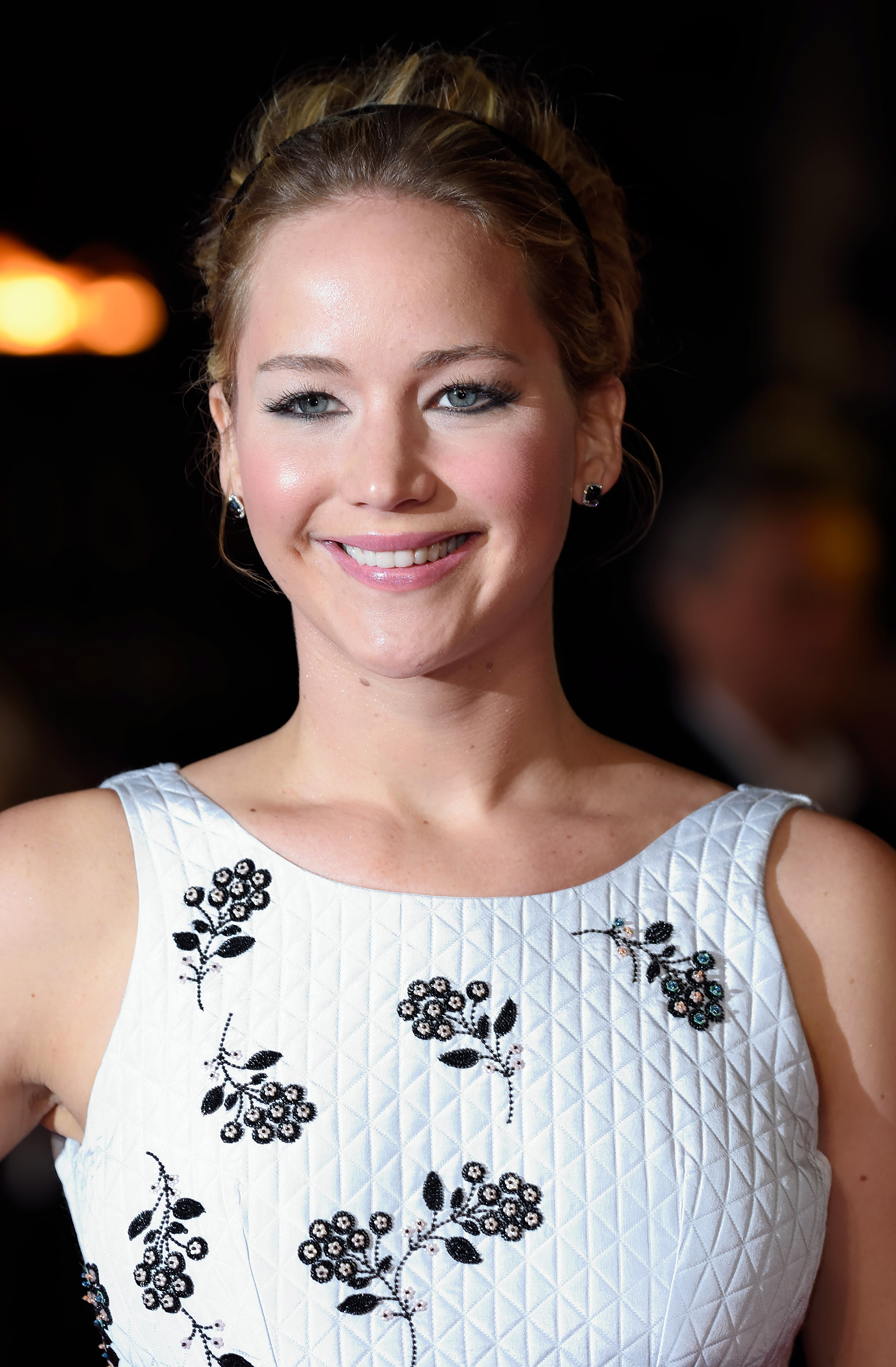 Jennifer Lawrence attends the World Premiere of  The Hunger Games: Mockingjay Part 1  at Odeon Leicester Square on November 10, 2014 in London, England.