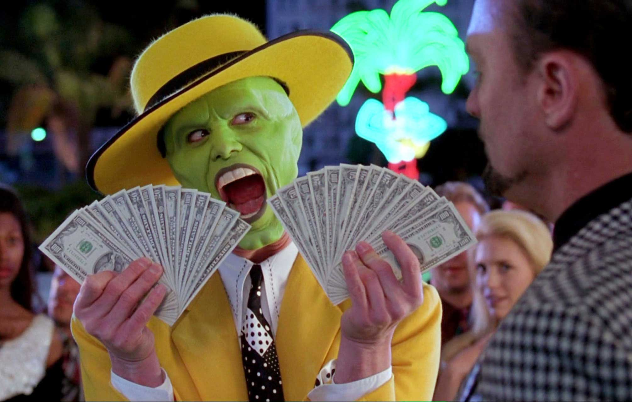 <strong>The Mask</strong>                                    Carrey plays Stanley Ipkiss, who goes from quiet office worker to cartoonish trickster with the help of a titular mask.