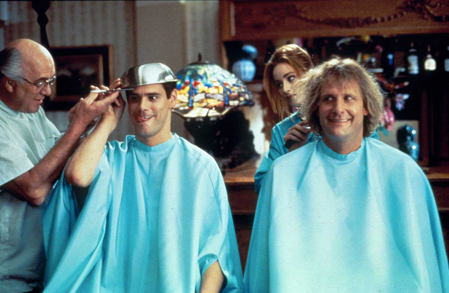 <strong>Dumb and Dumber</strong>                                    As Lloyd Christmas, Carrey played the incompetent best friend to Jeff Daniels' equally doltish Harry Dunne.