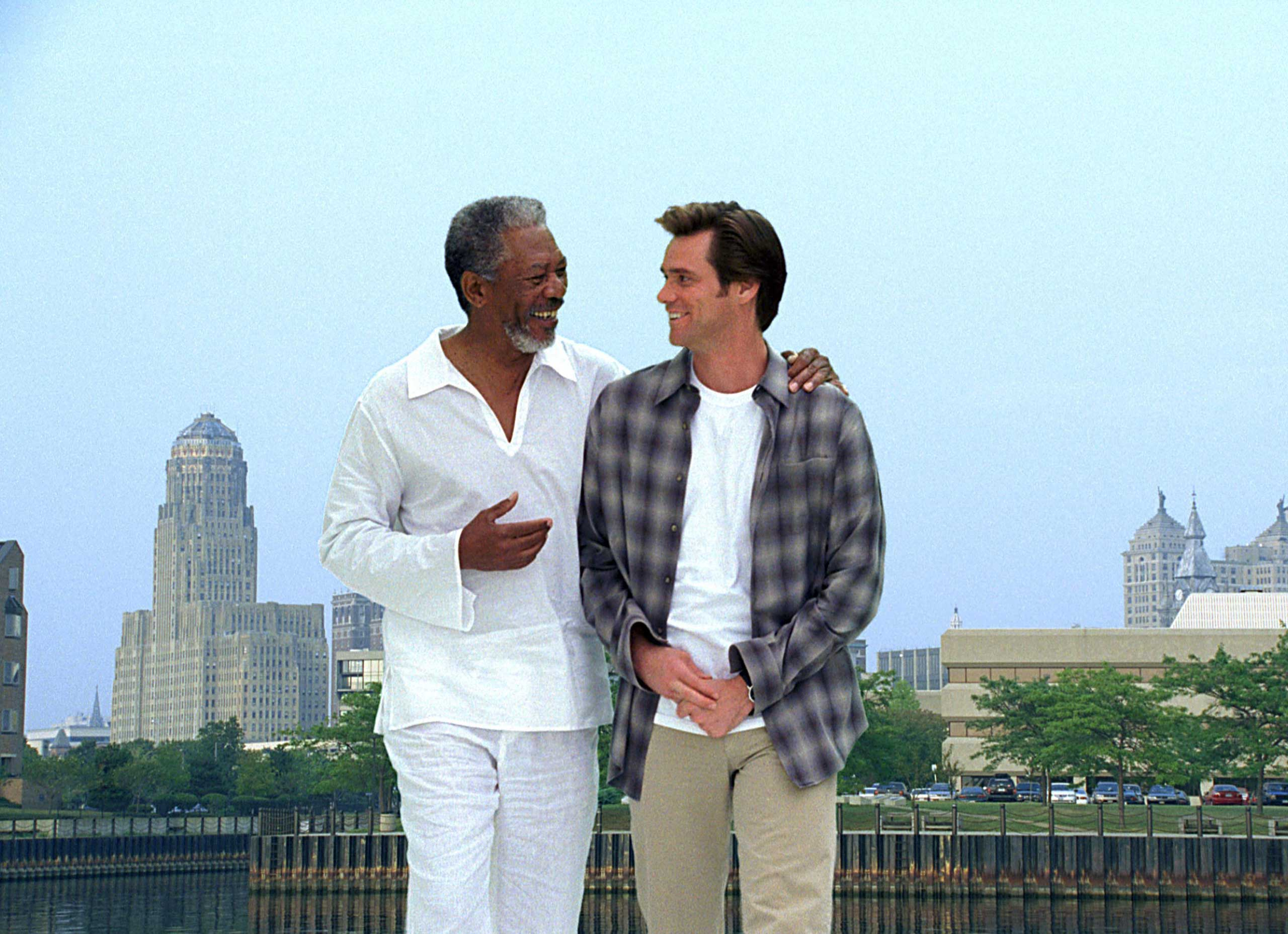 <strong>Bruce Almighty</strong>                                    Carrey played a TV reporter who gets a chance to play God.