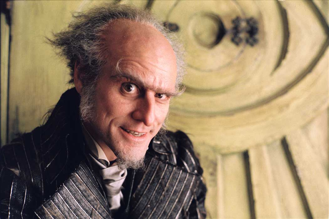 <strong>Lemony Snicket's A Series of Unfortunate Events</strong>                                    In this adaptation of the children's book, Carrey played Count Olaf, the reluctant guardian of the Baudelaire orphans.