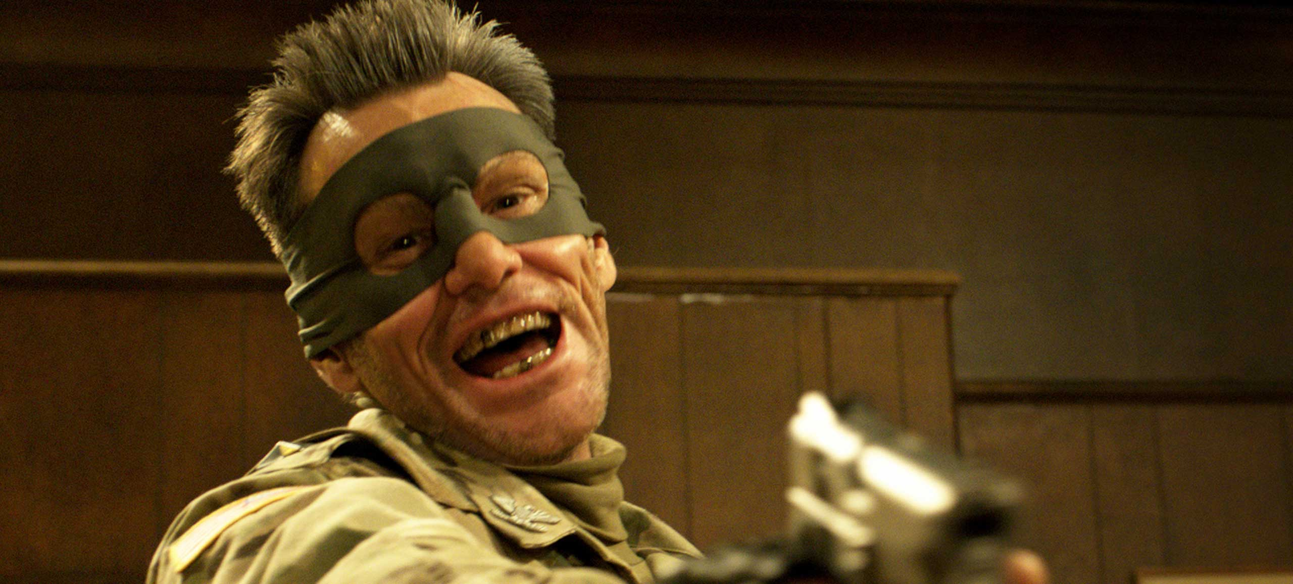 <strong>Kick-Ass 2</strong>                                    As Colonel Stars and Stripes, Carrey led the band of superheroes called Justice Forever.