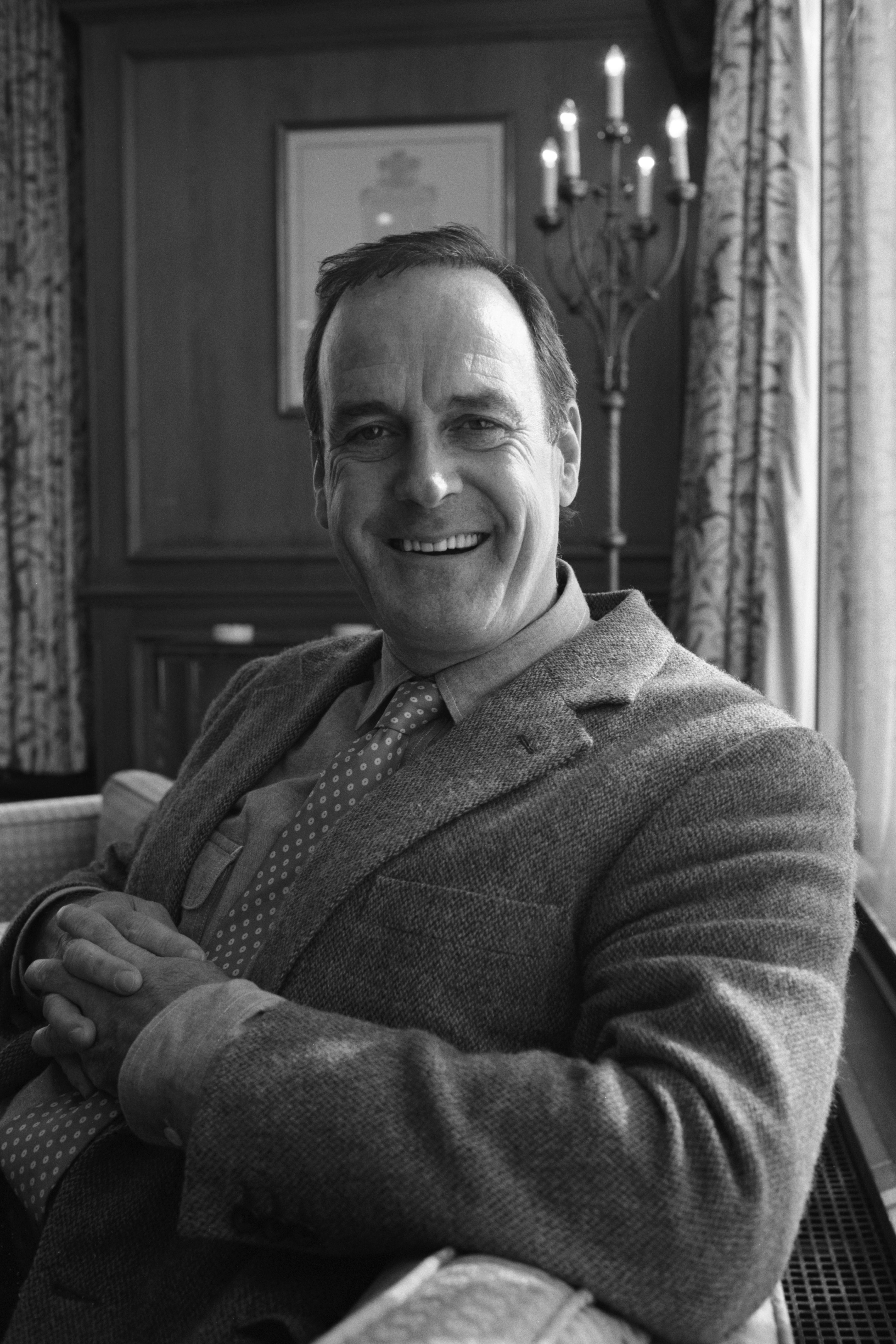 Portrait of former Monty Python actor John Cleese on October 07, 1988.