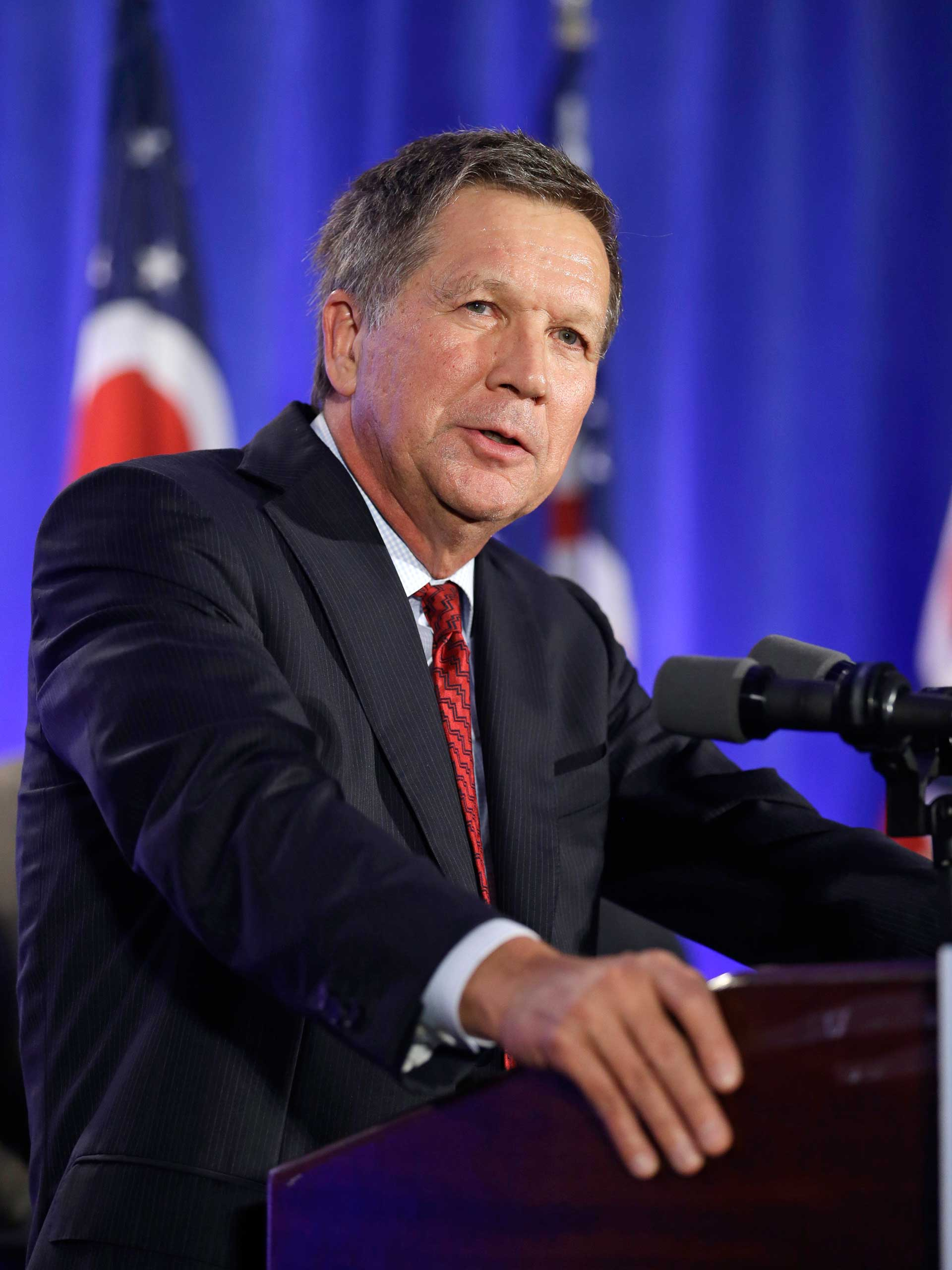 Ohio Governor John Kasich speaks to supporters at the Ohio Republican Party celebration in Columbus, Ohio on Nov. 4, 2014.