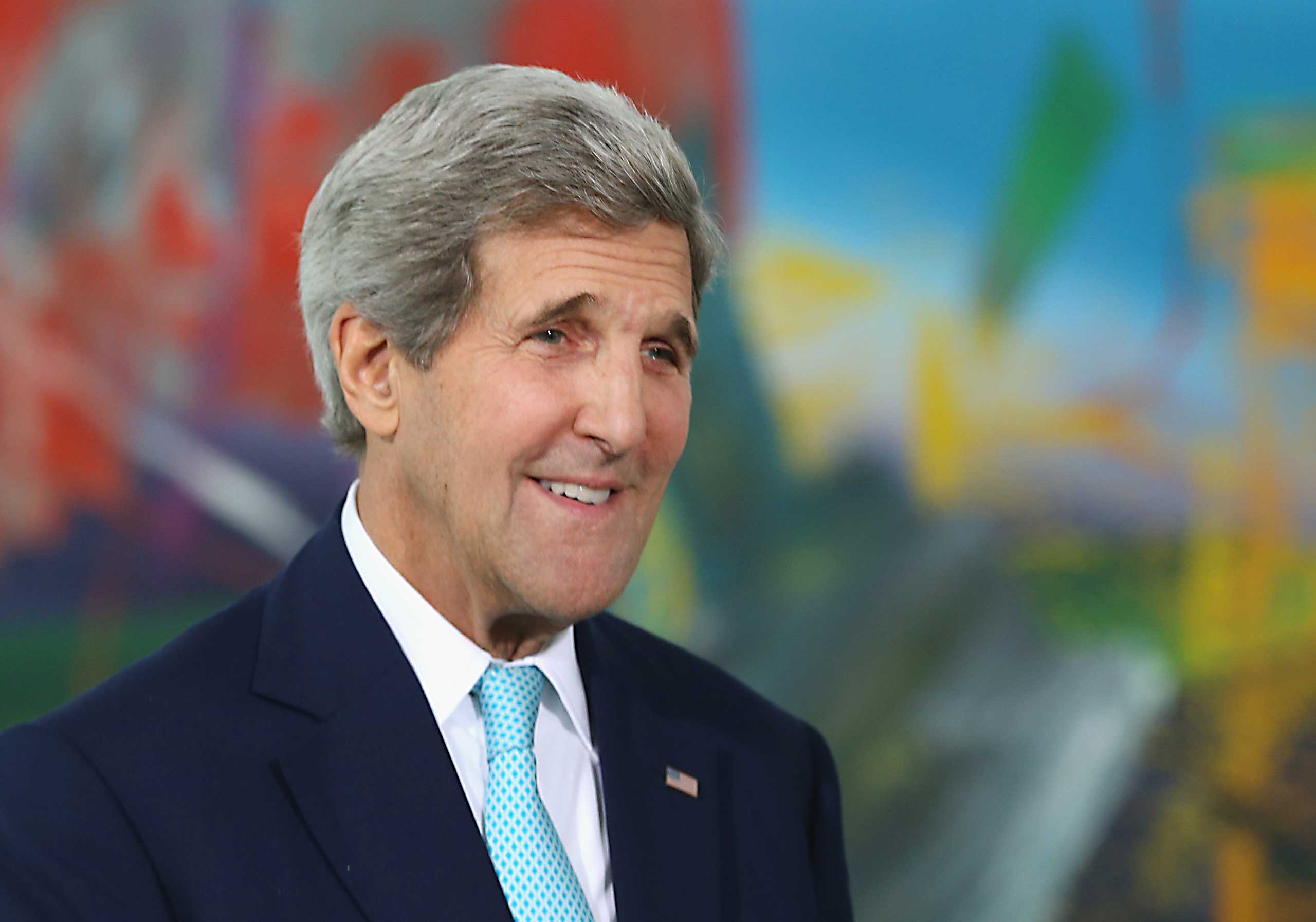 U.S. Secretary of State John Kerry at the Chancellery in Berlin on Oct. 22, 2014.