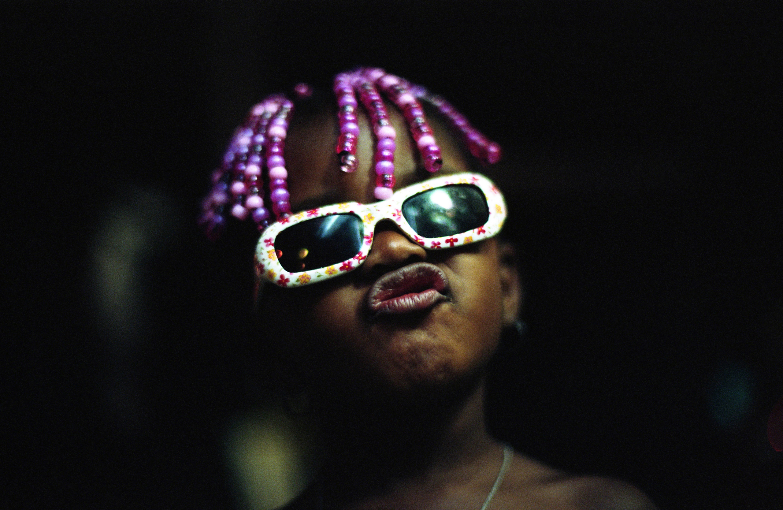 A girl on the street in East Harlem on July 14, 2014.