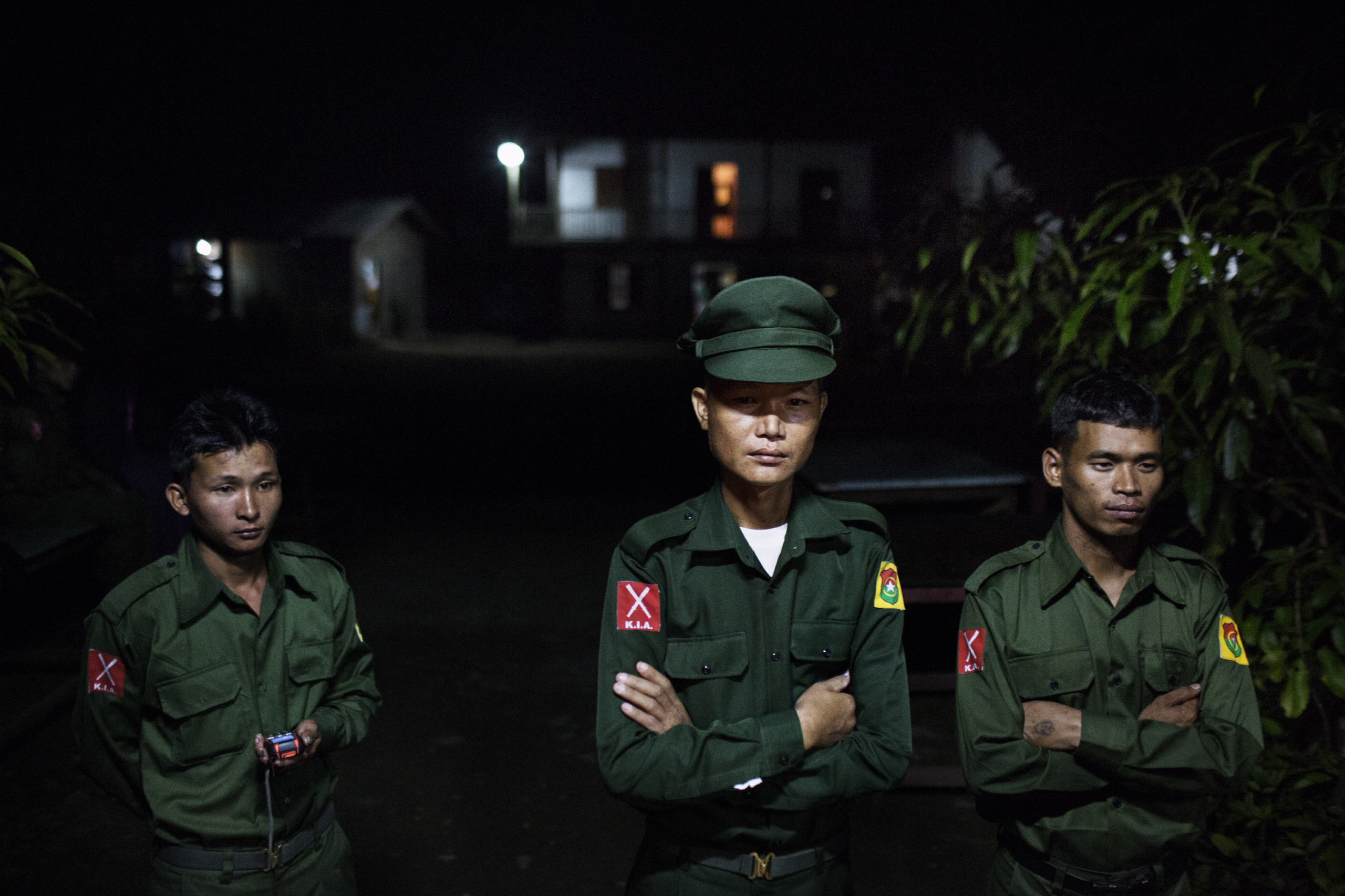 KIA soldiers in Laiza, Kachin Independence Army (KIA) controlled territory of Kachin State, Burma, Nov. 9, 2014.