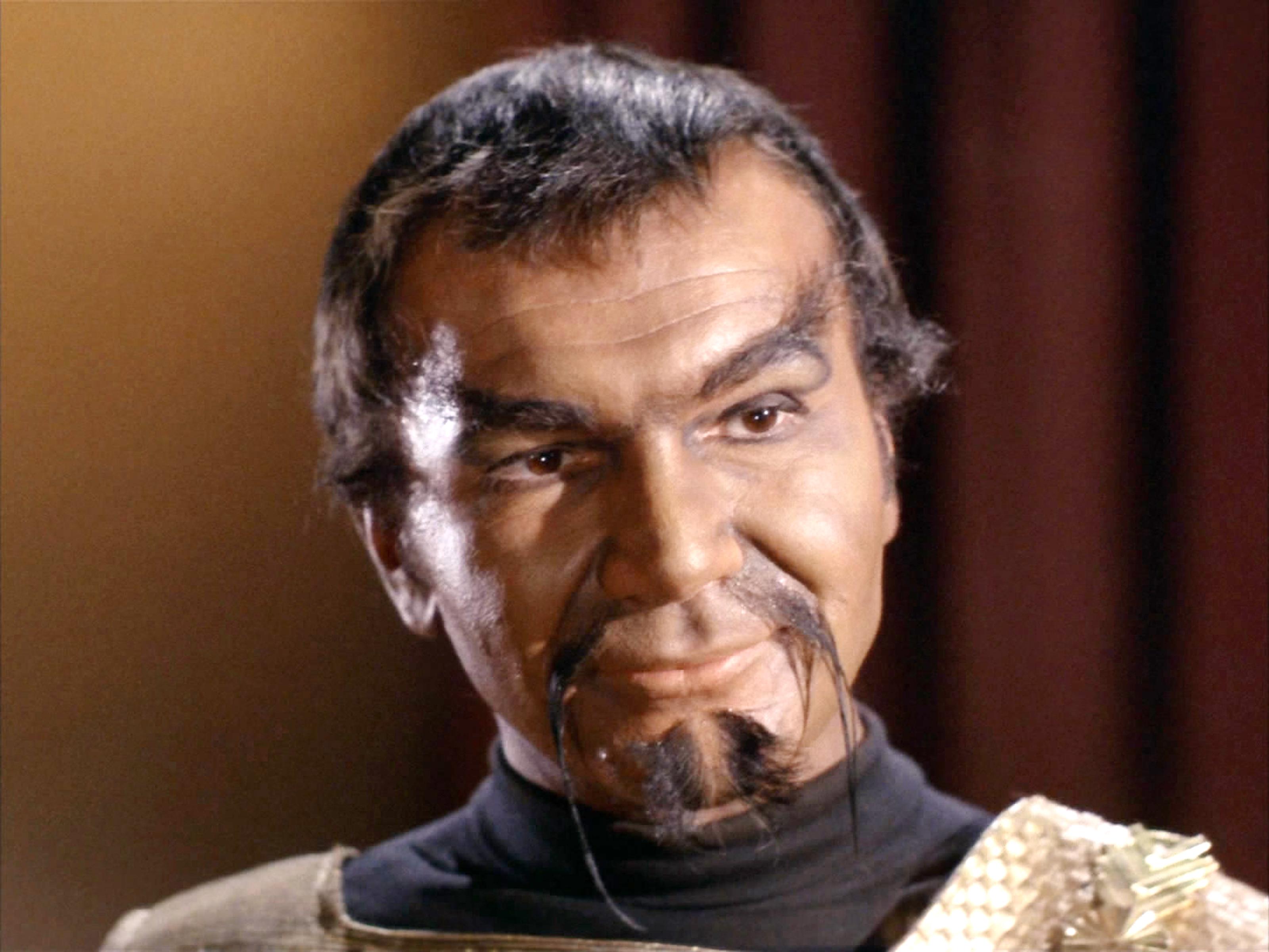 Seen here, John Colicos as Kor (a Klingon) in the STAR TREK episode,  Errand of Mercy.