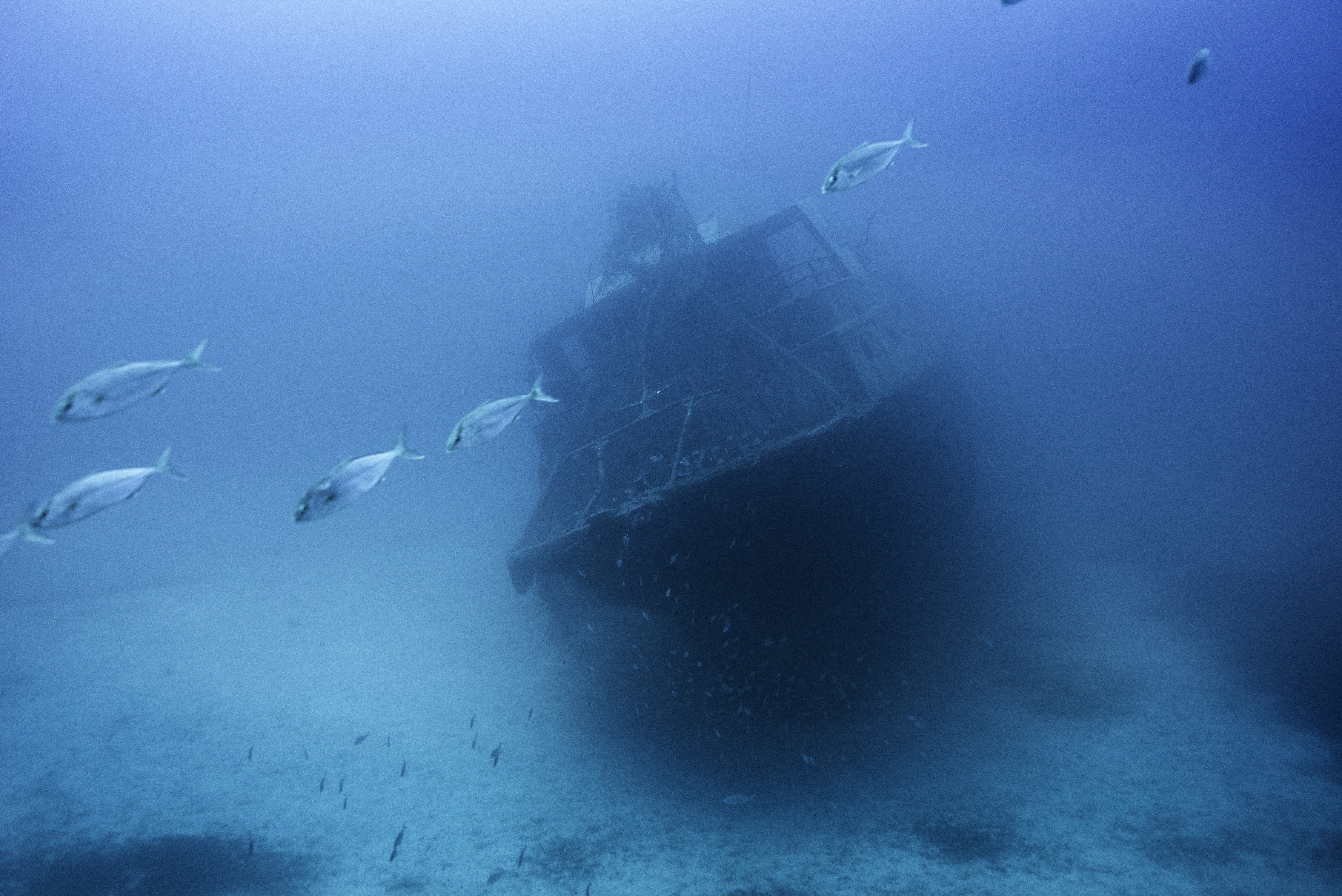 The shipwreck of the 66-foot-long fishing boat that sank off the coast of the Italian island of Lampedusa lies at a depth of 164 ft. on the seabed, on Sept. 22, 2014. The tragedy that happened a year ago on Oct. 3, 2013 killed 366 migrants from North Africa.