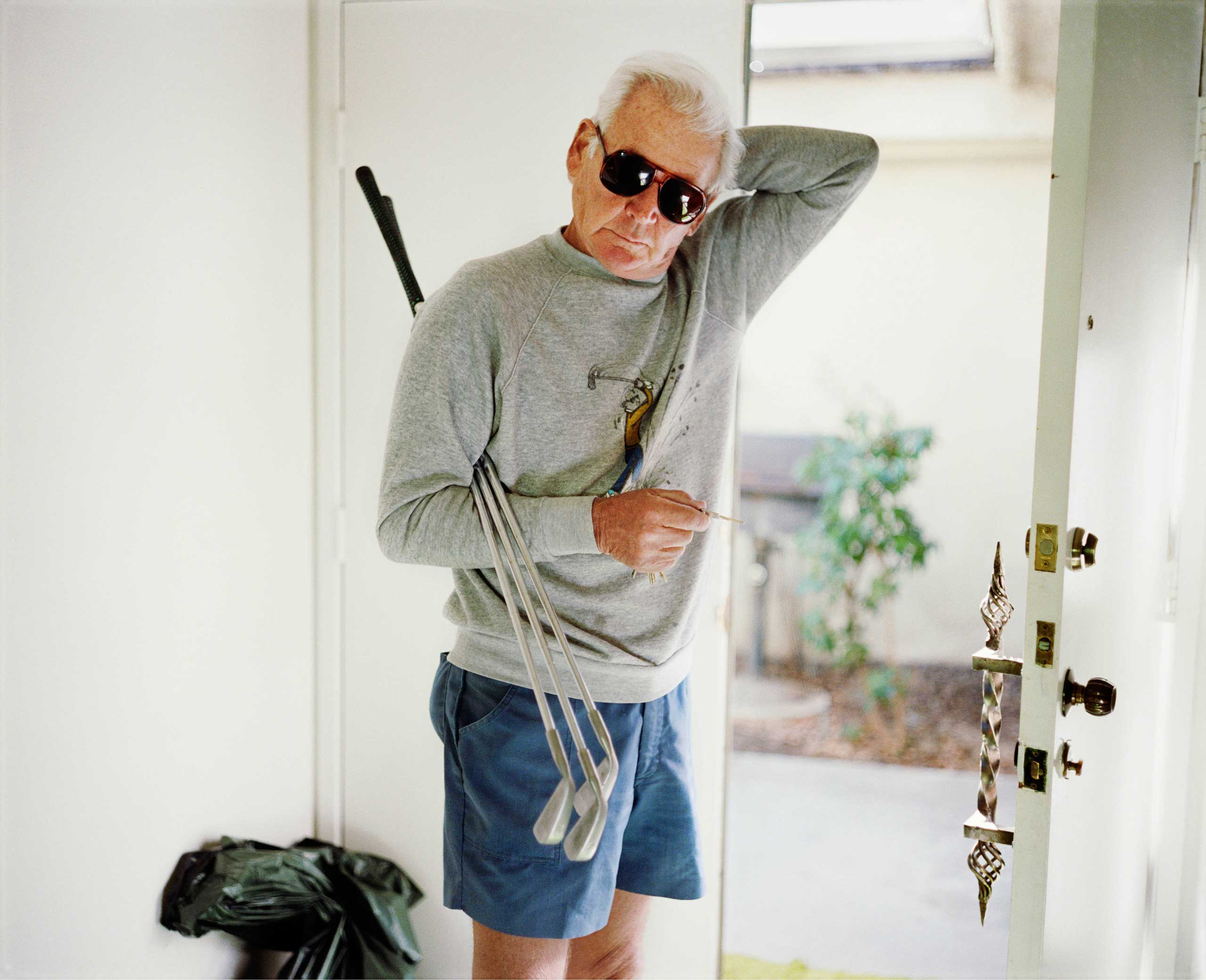 Dad with Golf Clubs, 1987, from the series  Pictures From Home