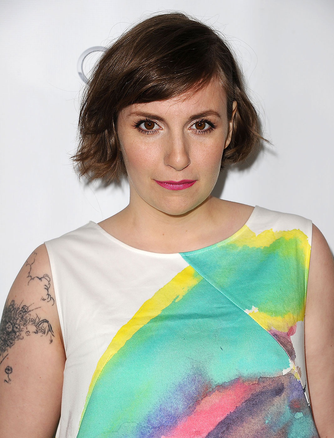 Lena Dunham attends an evening with Girls at Leonard H. Goldenson Theatre on March 13, 2014 in North Hollywood, California.