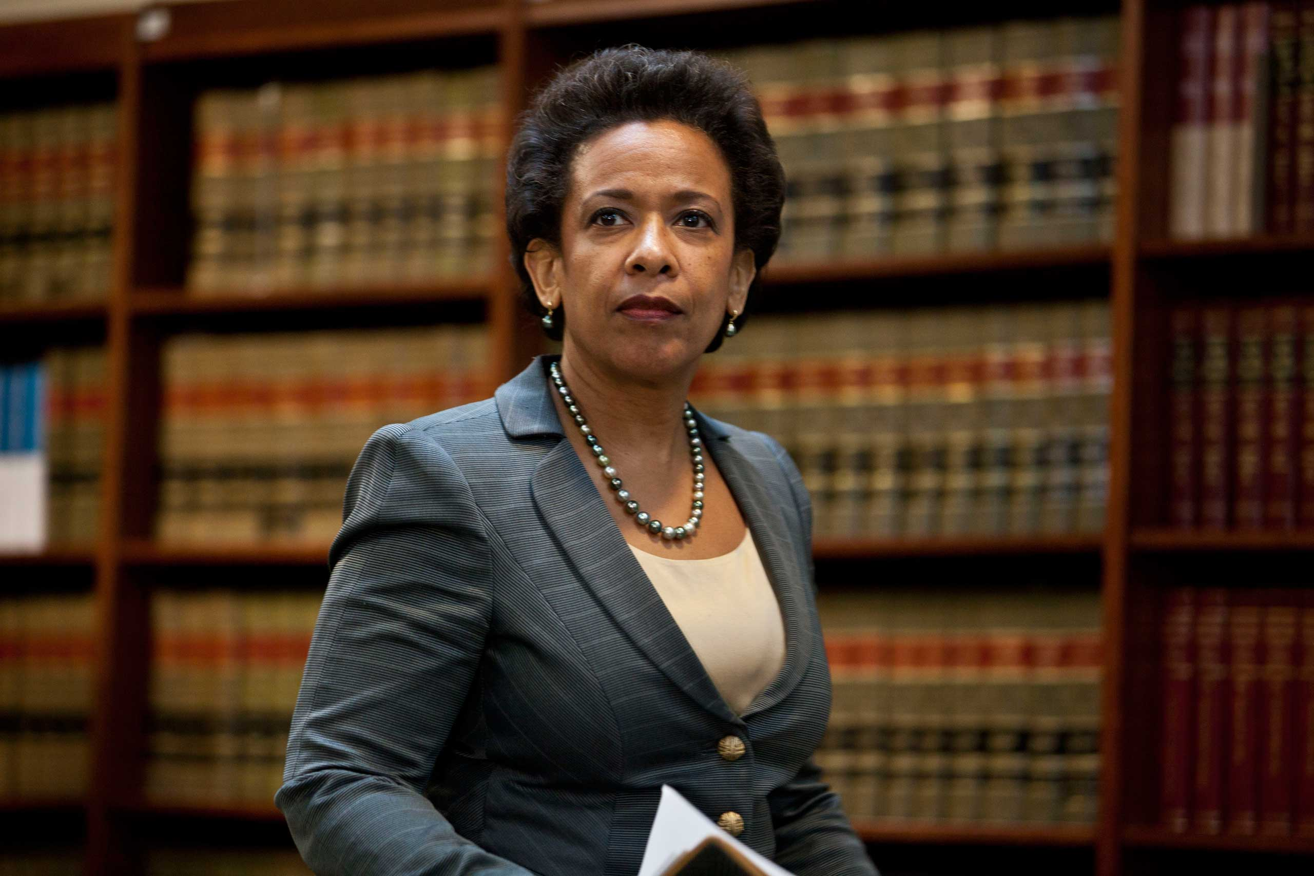 U.S. Attorney for the Eastern District of New York Loretta Lynch arrives for a news conference to announce money laundering charges against HSBC on Dec. 11, 2012 in the Brooklyn borough of New York City.