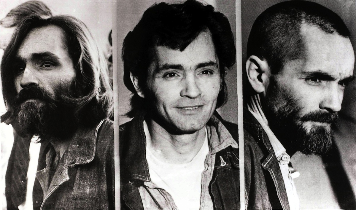 Charles Manson's appearance changes in these three photos from circa 1971