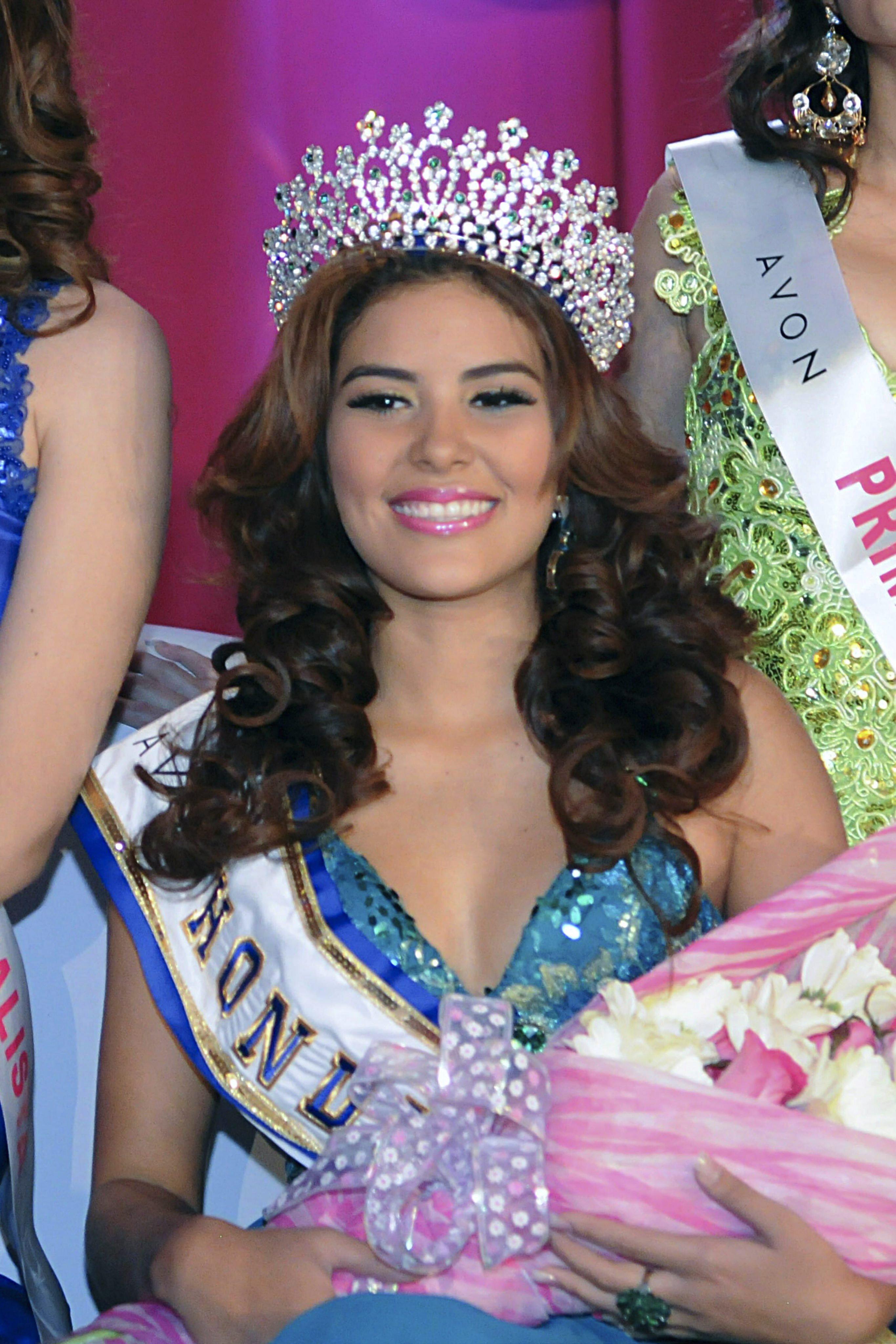 Miss World Honduras 2014 María José Alvarado in the ceremony of the event in San Pedro Sula, Honduras, on April 26, 2014
