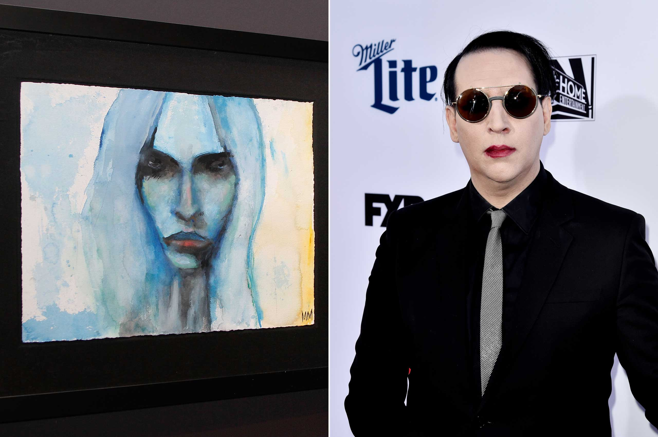 This painting from Marilyn Manson's  The Path of Misery  exhibition was featured in Mexico City in 2011.