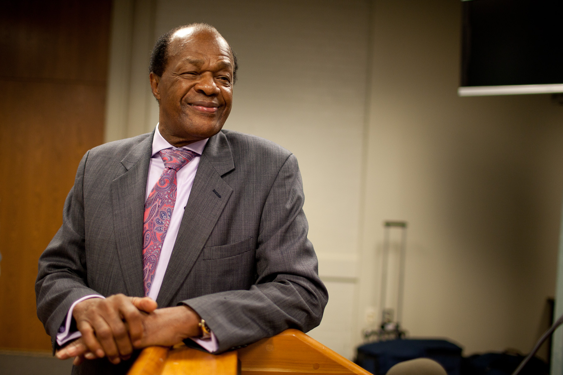 D.C. Council Member Marion Barry gives a news conference in Washington D.C. on Aug. 2, 2010.