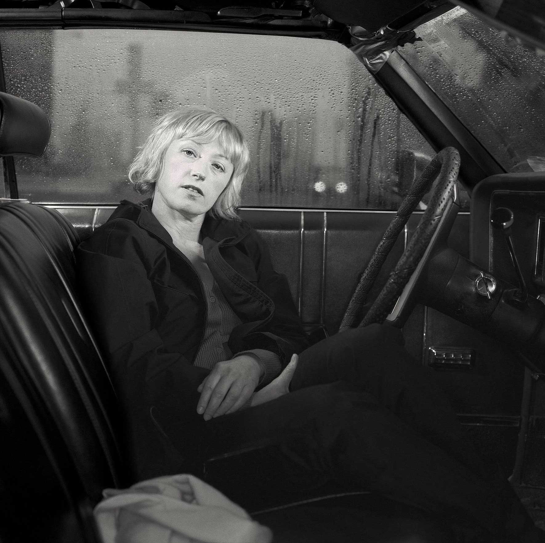 Cindy Sherman.                                                               She's a really lovely lady. We went to her loft in SoHo, I also had this car on hand. I was thinking that she always photographs herself, she doesn't have any assistants and she dresses up. I wanted to capture that. I love her film series and that inspired this photo.
