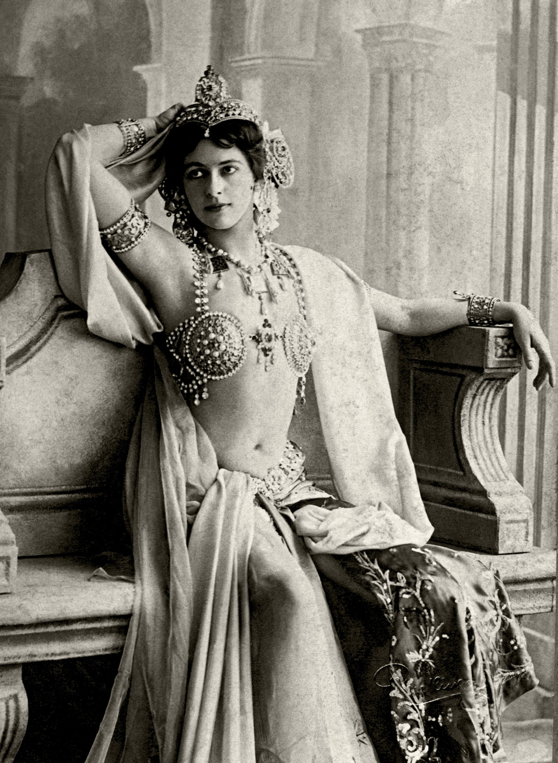 Mata Hari's Bejeweled Bra                                                               The famed exotic dancer and convicted spy was notorious for stripping down but never removing her jeweled metallic bra. It was said that she was self-conscious about her small breast size.