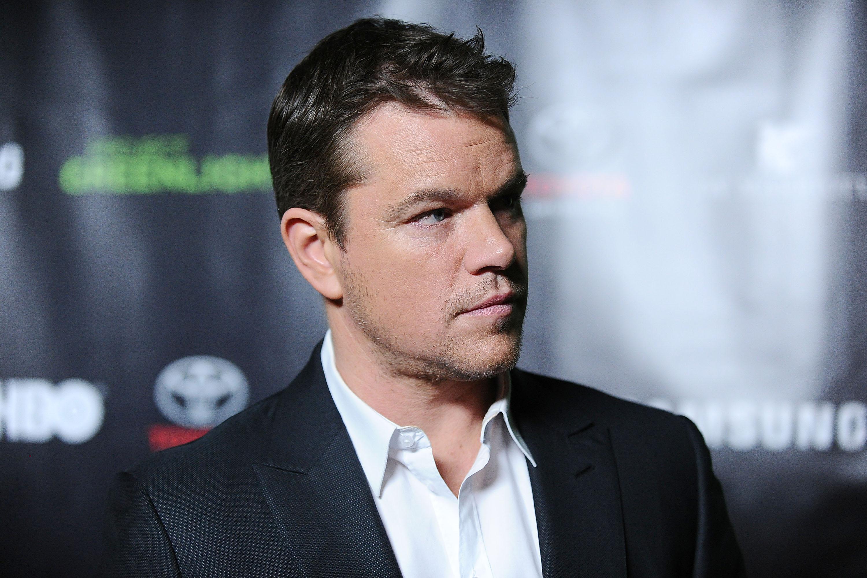Actor Matt Damon attends the Project Greenlight event at Boulevard3 in Hollywood on Nov. 7, 2014